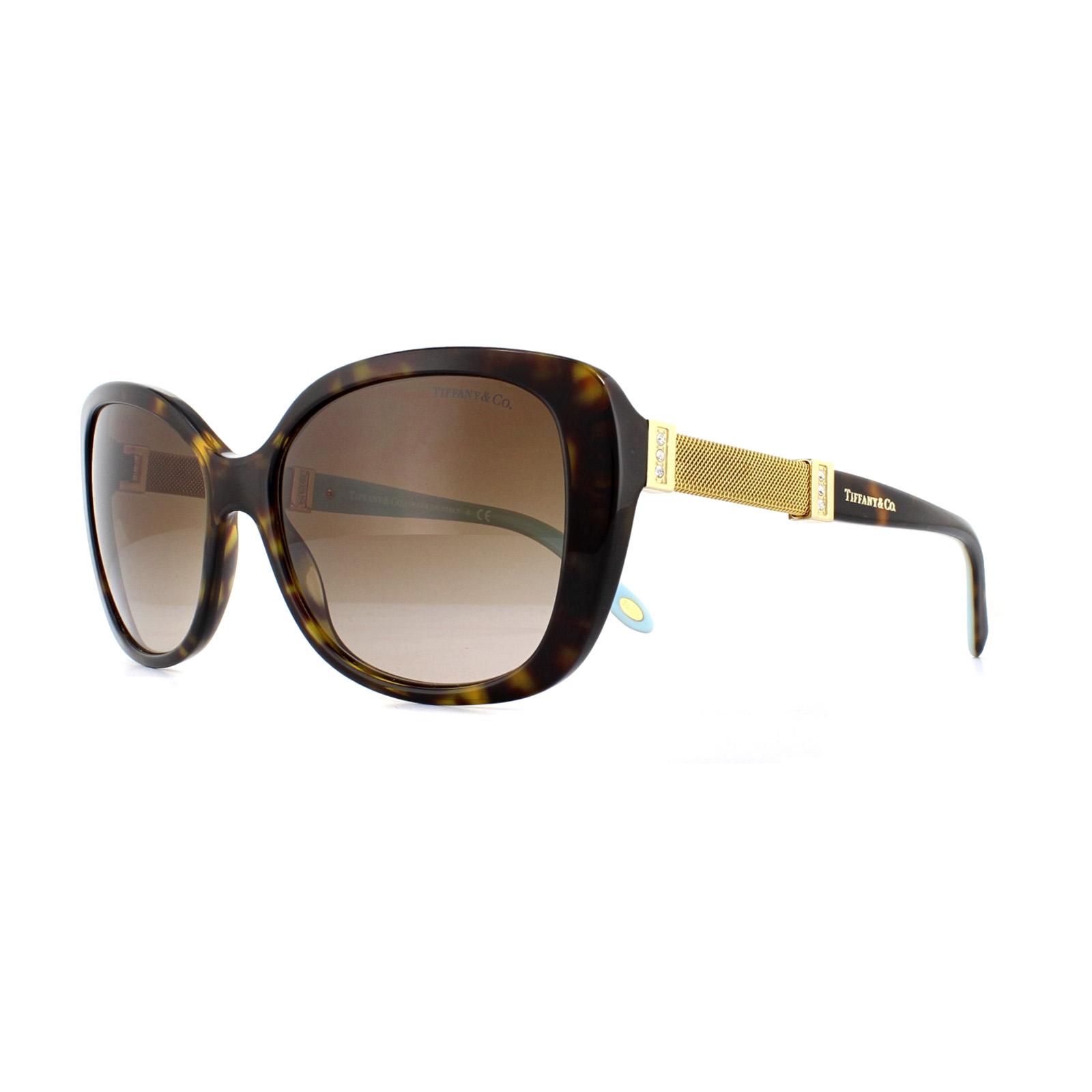 008ab2f14e34 Sentinel Tiffany Sunglasses TF 4106B 80153B Havana Brown Gradient