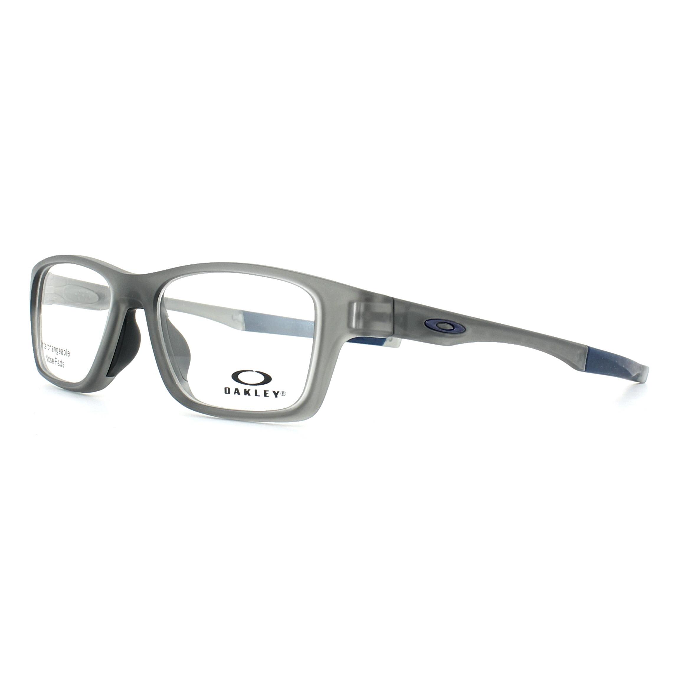2495687365 Sentinel Oakley Glasses Frames Crosslink High Power OX8117-03 Satin Grey  Smoke 52mm Mens