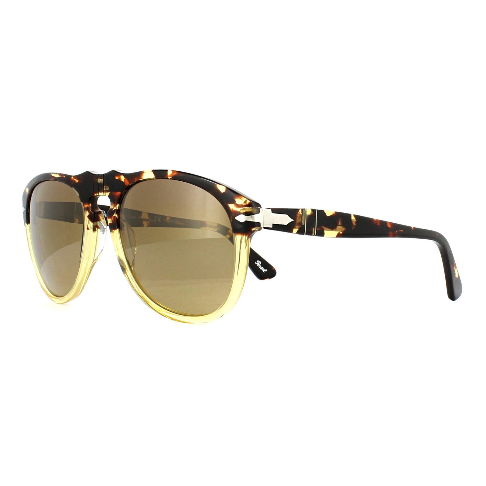 539031285293 Persol Sunglasses 649 1024M2 Ebano E Oro Brown Gradient Polarized ...