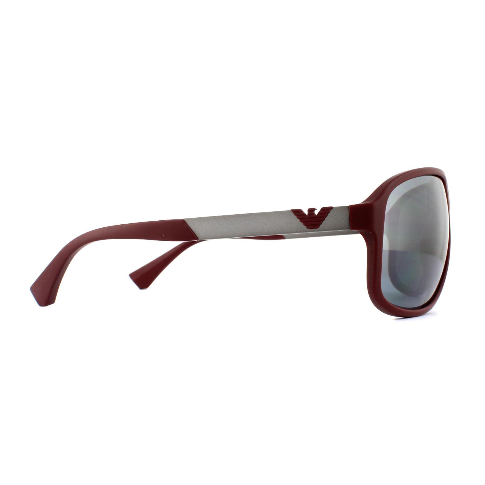 0ba89e5d19 CENTINELA Emporio Armani gafas de sol 4029 56066 Bordeaux goma luz gris  espejo