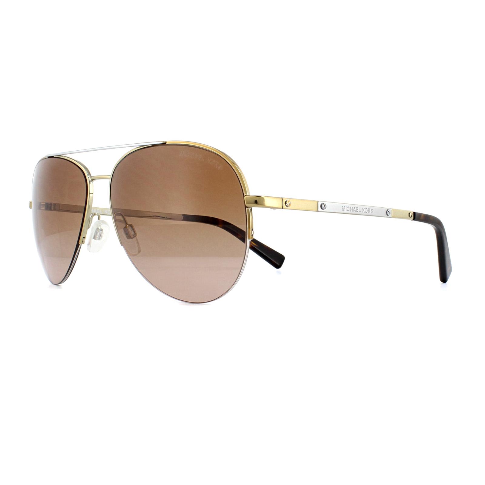 d3e5be10c744f Sentinel Michael Kors Sunglasses Gramercy 1001 101914 Gold Silver Brown  Gradient