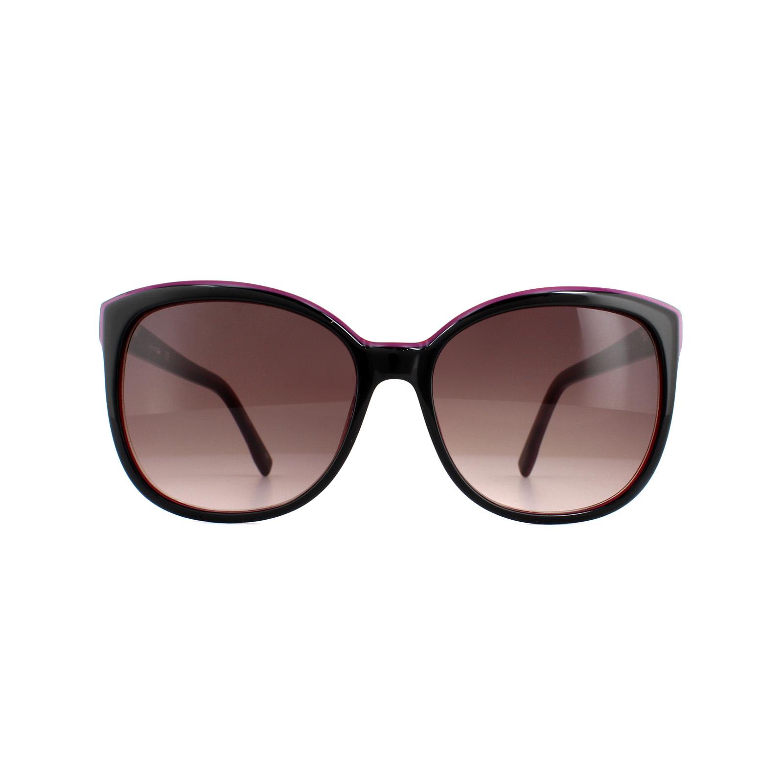 4fdb5d16ae5 Lacoste Sunglasses L747S 001 Black Red Brown Gradient 886895200868 ...