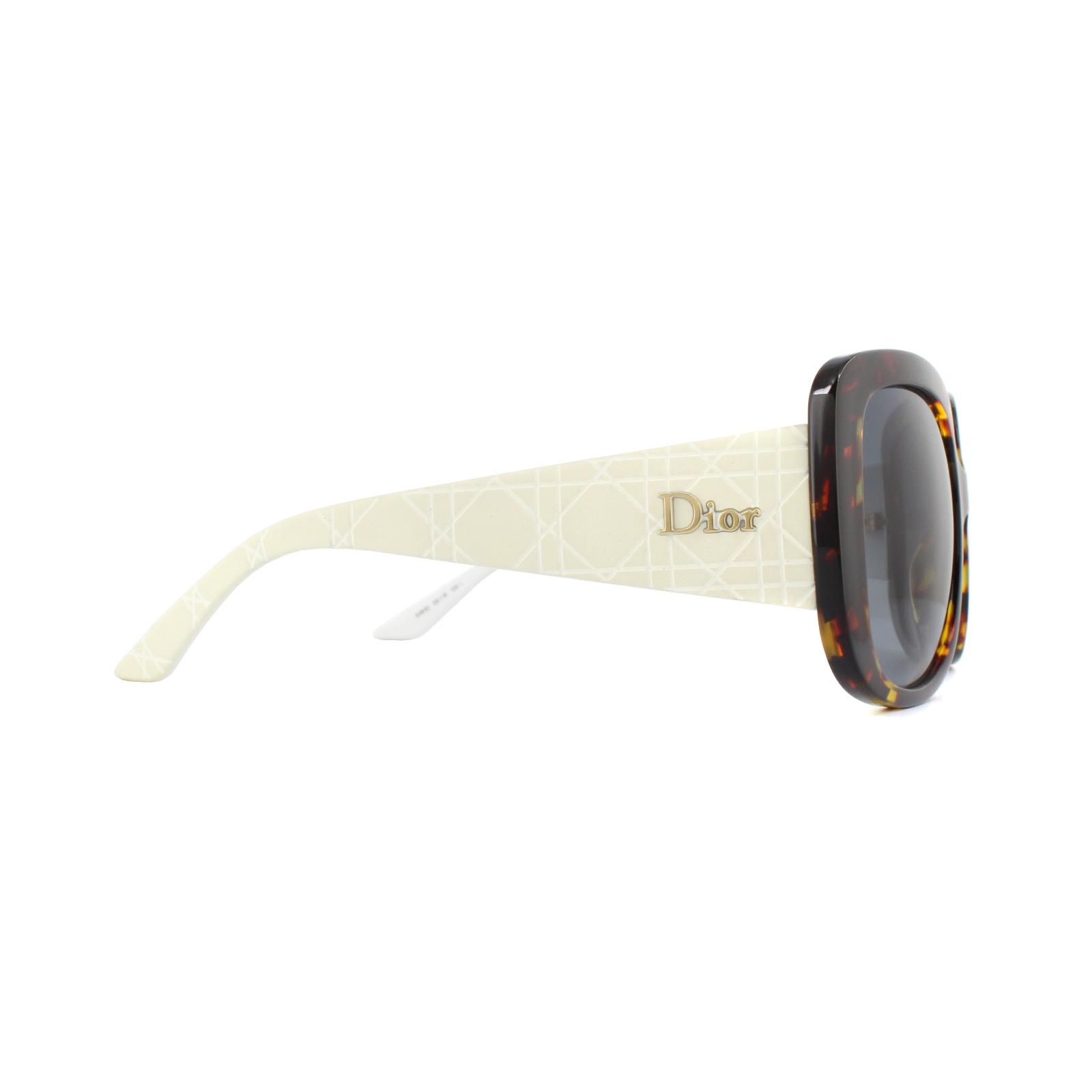 5232131c2b0b Sentinel Dior Sunglasses Dior Lady Lady1S 04I HD Havana White Grey Gradient