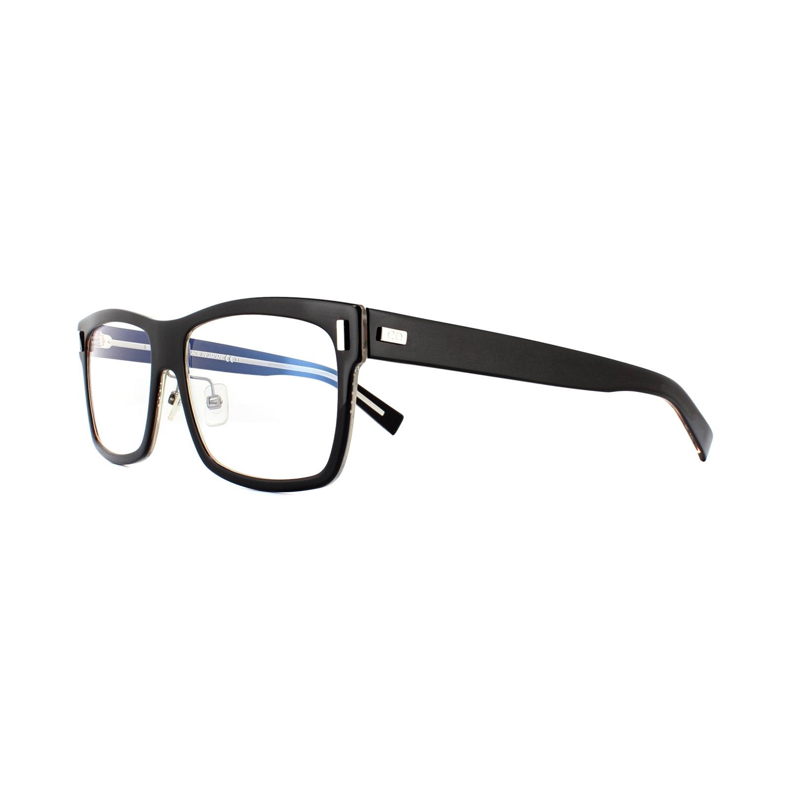 a4c82acd7f Sentinel Dior Homme Glasses Frames Dior Blacktie 2.0 B 7C5 Black Crystal  55mm Mens