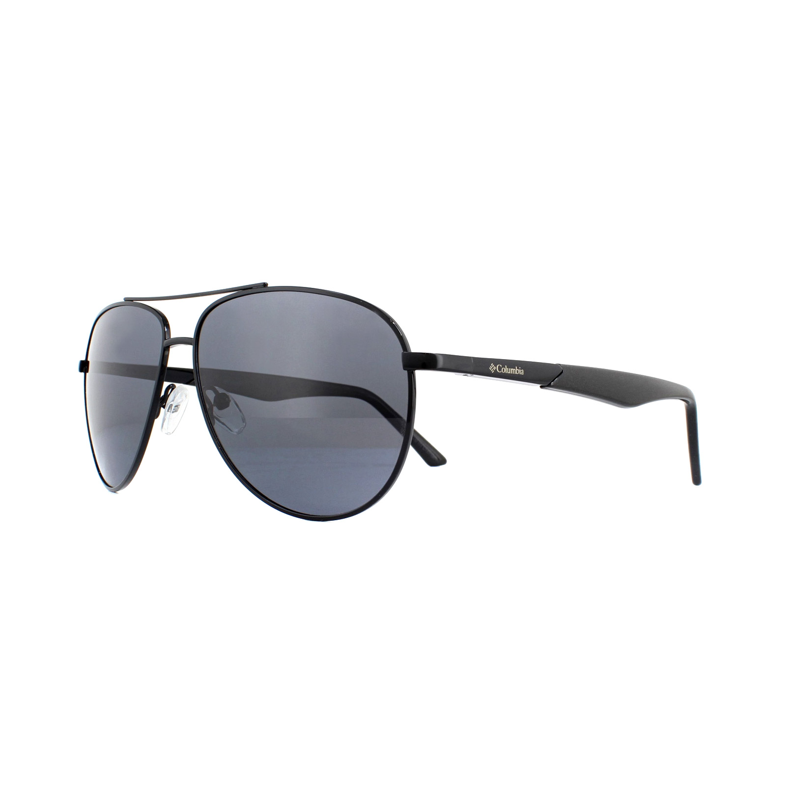 df815bb1eb Sentinel Columbia Sunglasses CBC703 C02 Shiny Black Dark Grey Polarized