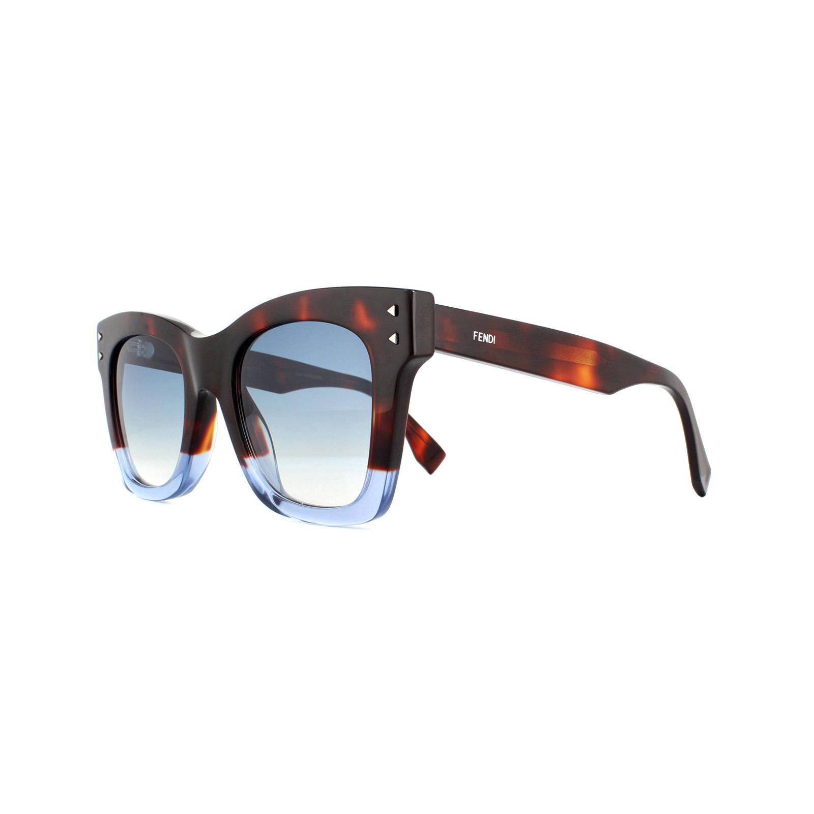 399cb3104af7a Fendi Sunglasses FF 0237 S IPR 08 Havana Blue Dark Blue 762753624802 ...