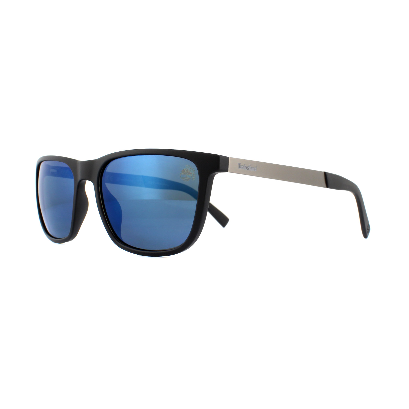 5d222a9d615 Sentinel Timberland Sunglasses TB9131 05D Black Blue Polarized