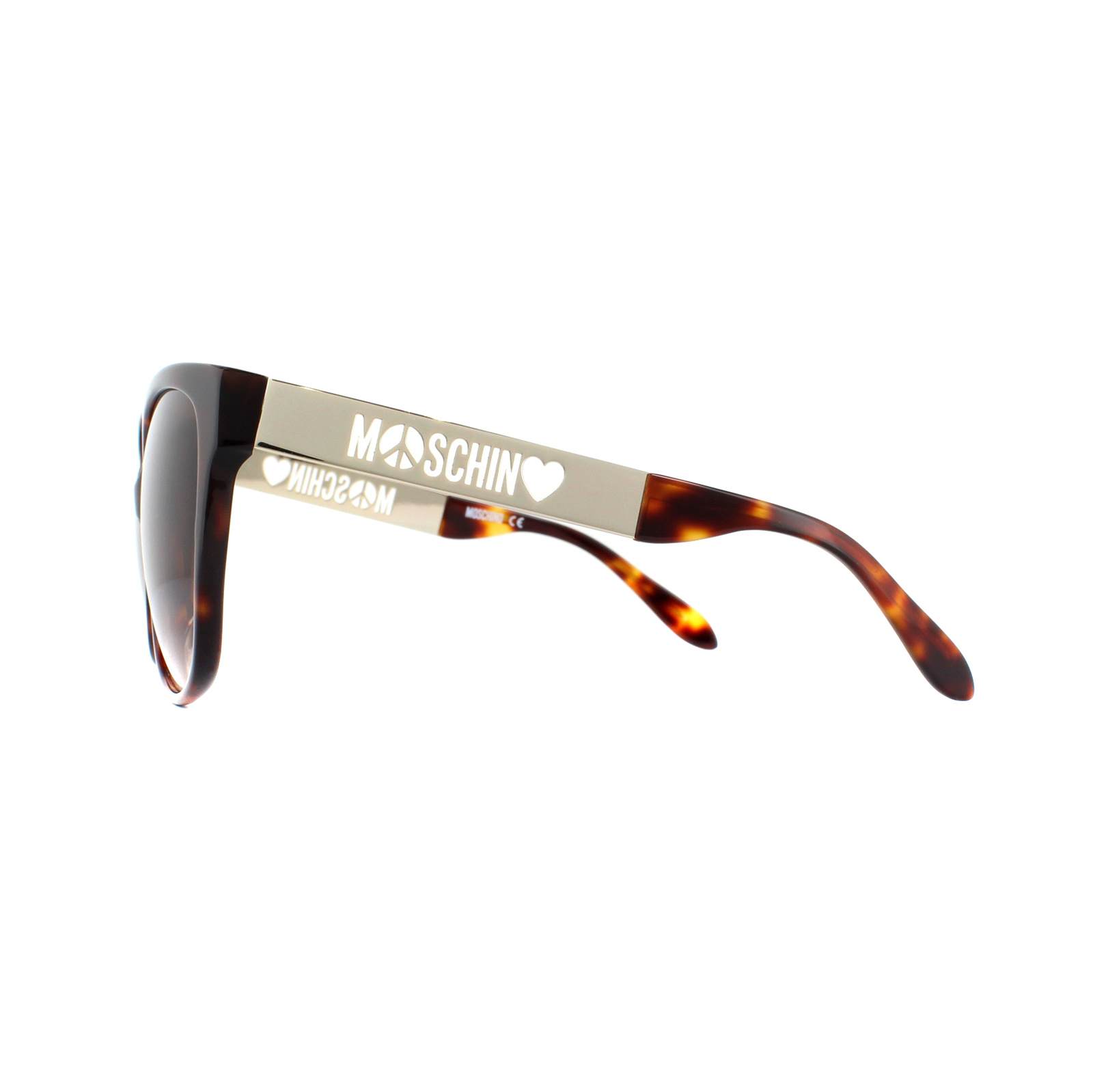 Details about Moschino Sunglasses MO802 02 Tortoiseshell Gold Brown Gradient