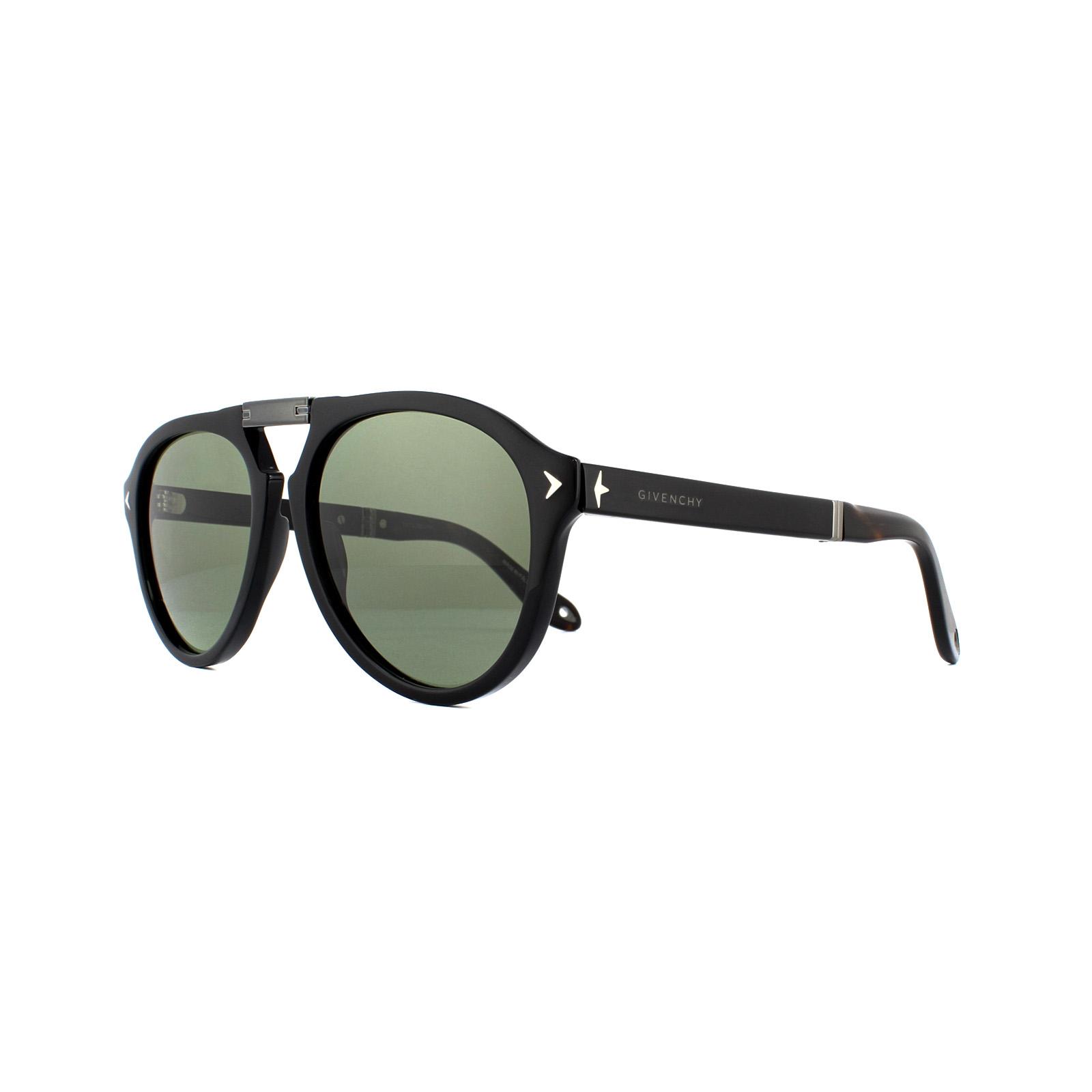 8eca09b3a08 Givenchy Sunglasses SGV7035 S 807 HY Black Green 762753408587