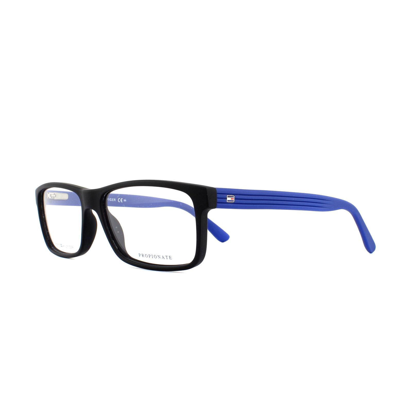 Tommy Hilfiger Glasses Frames TH 1367 K56 Blue Crystal Red 54mm