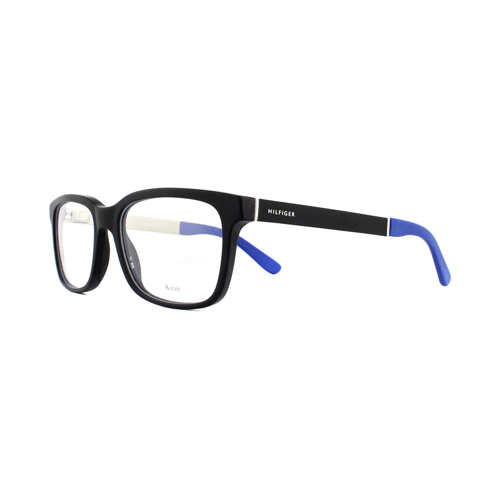 8e6e678b9e4 Sentinel Tommy Hilfiger Glasses Frames TH 1323 HXQ Matte Black 52mm