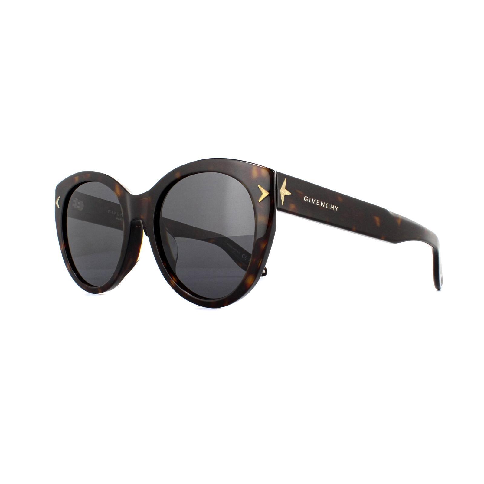 selezione migliore 2dddf 65736 Dettagli su Givenchy Occhiali da Sole GV 7025/F/S 086/E5 Tartaruga Grigio