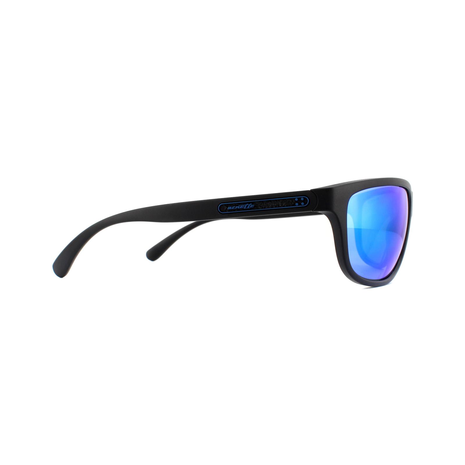 b509431108 Sentinel Arnette Sunglasses Grip Tape 4246 01/25 Matte Black Green Mirror  Light Blue