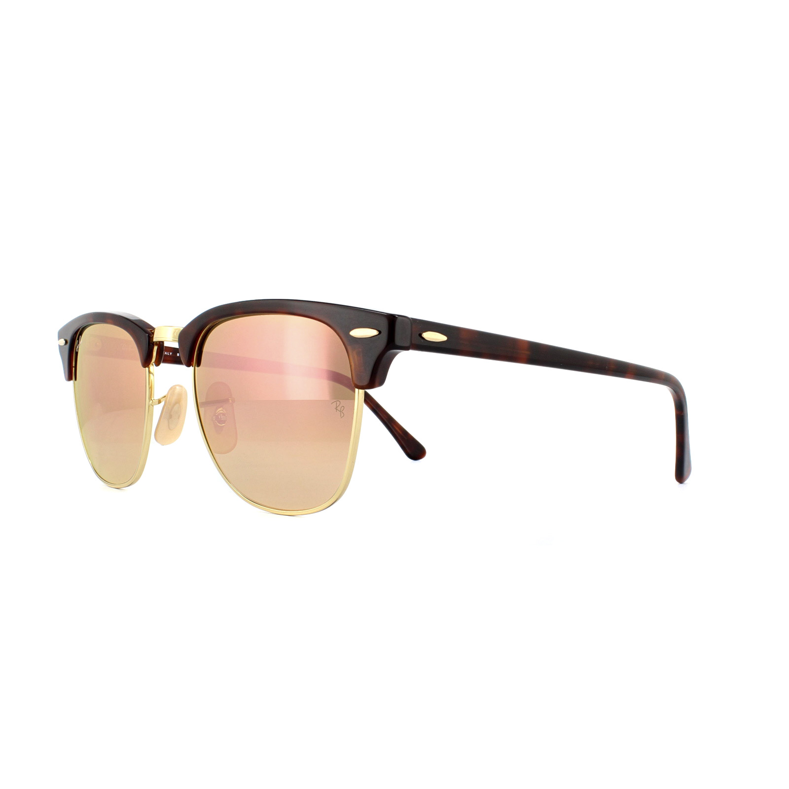 Sentinel Ray-Ban Sunglasses Clubmaster 3016 990 7O Red Havana Copper Flash  Gradient 51mm c47c34900a