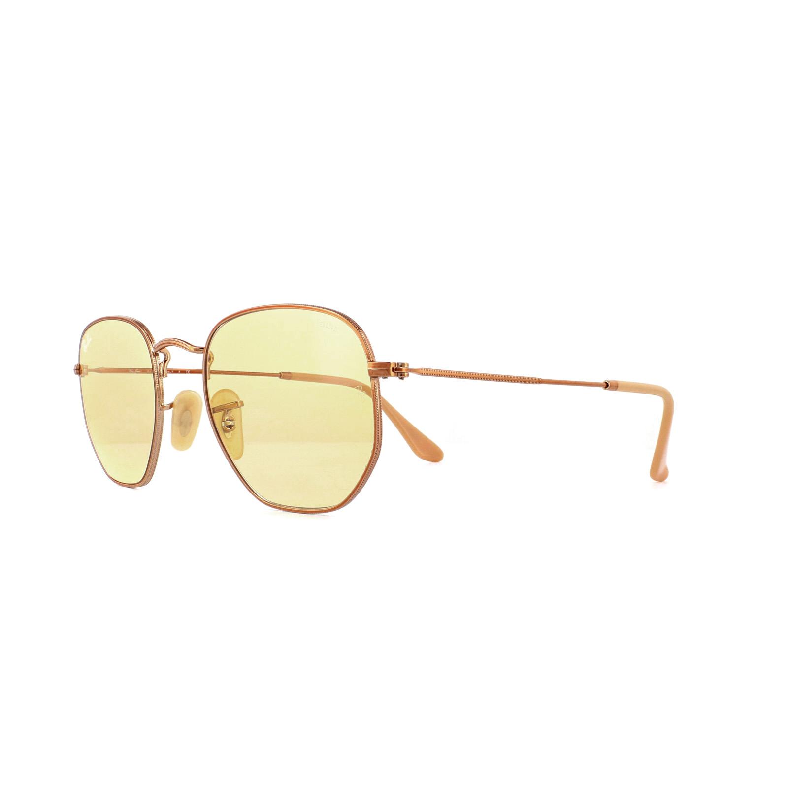 523c231eaf3 Sentinel Ray-Ban Sunglasses Hexagonal 3548N 91310Z Copper Light Yellow 51mm