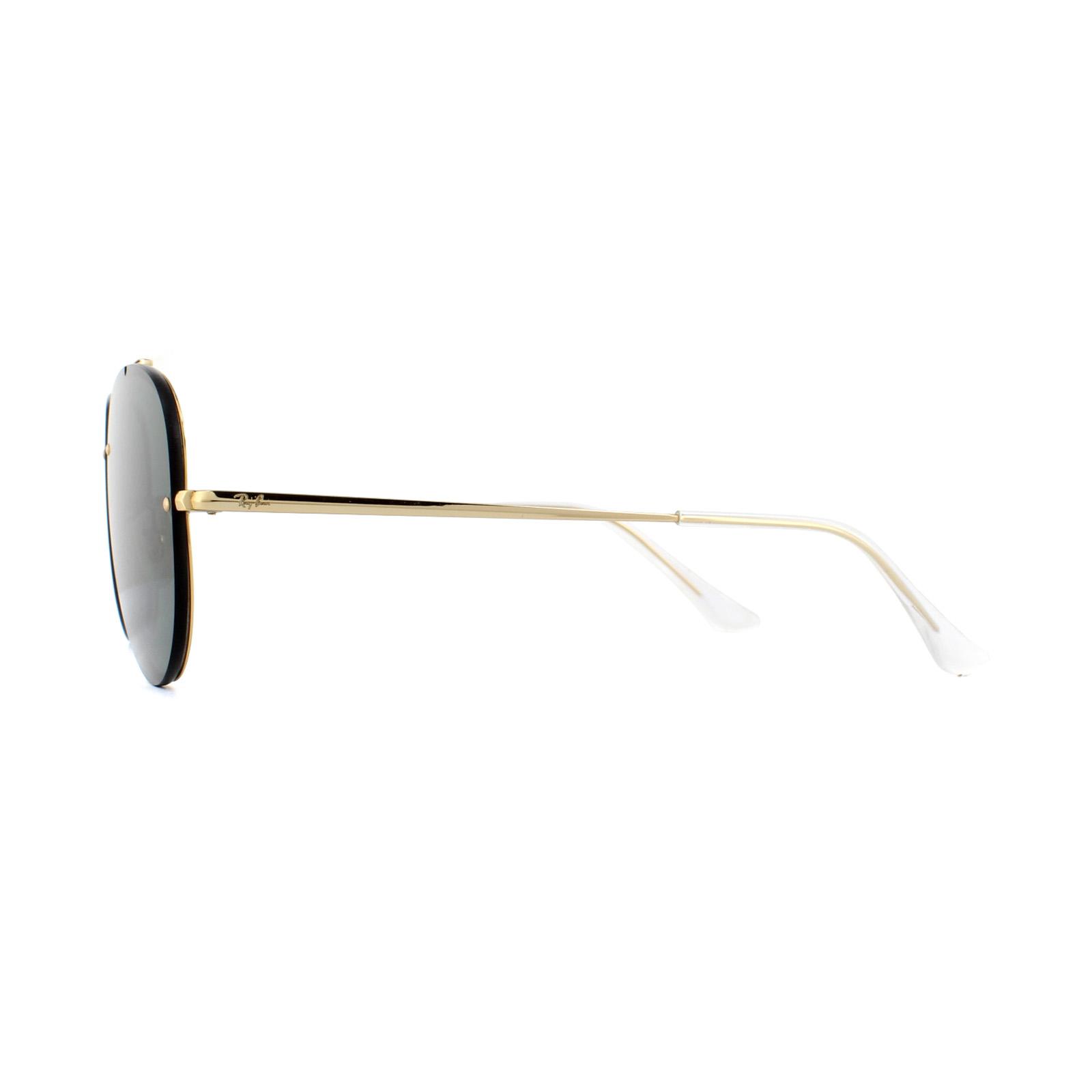 2e98f9c04d877 SENTINEL Fiammata di occhiali da sole Ray-Ban Aviator 3584N 905071 oro  scuro verde 58mm