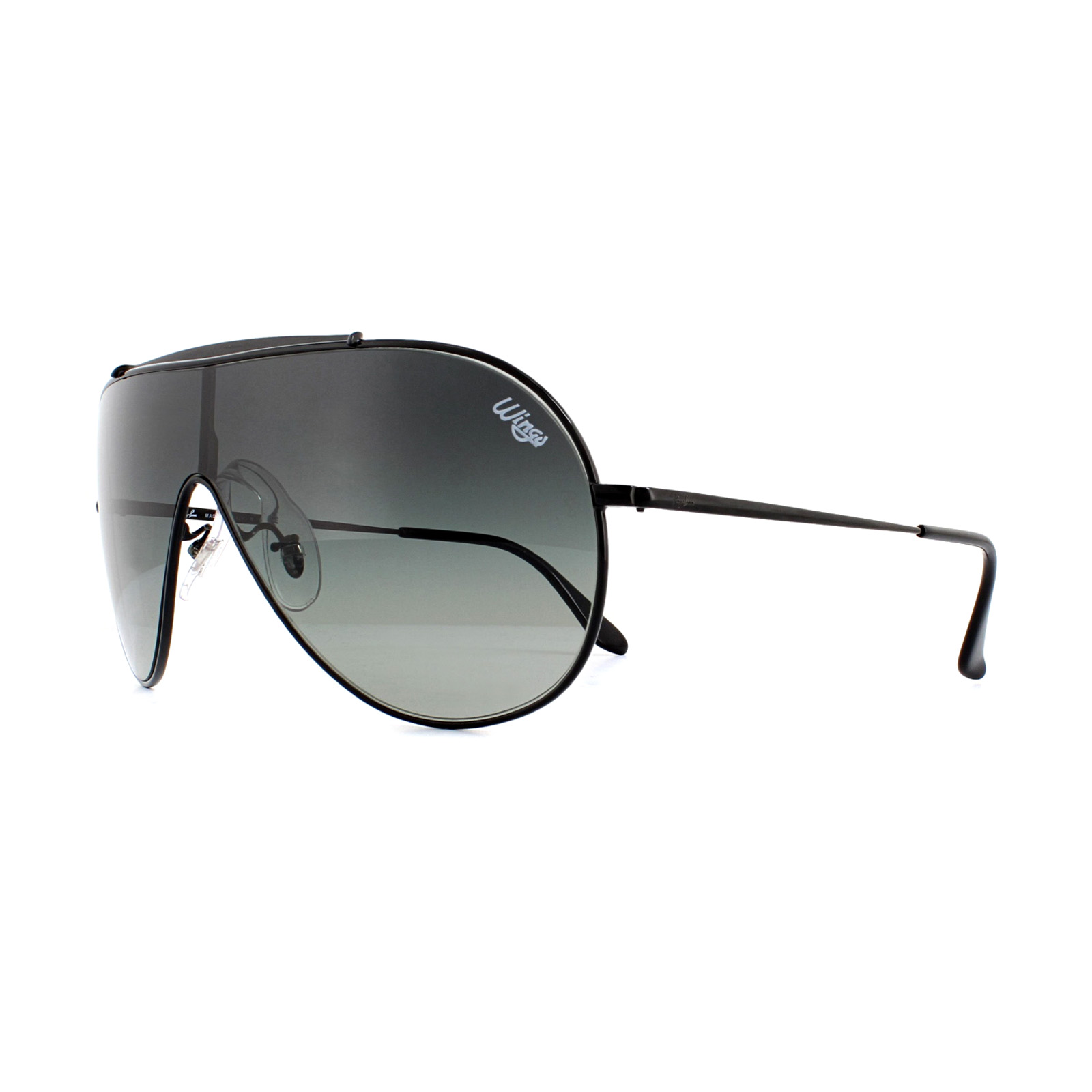 2d65bcd12952 Sentinel Ray-Ban Sunglasses Wings RB3597 002/11 Black Grey Gradient