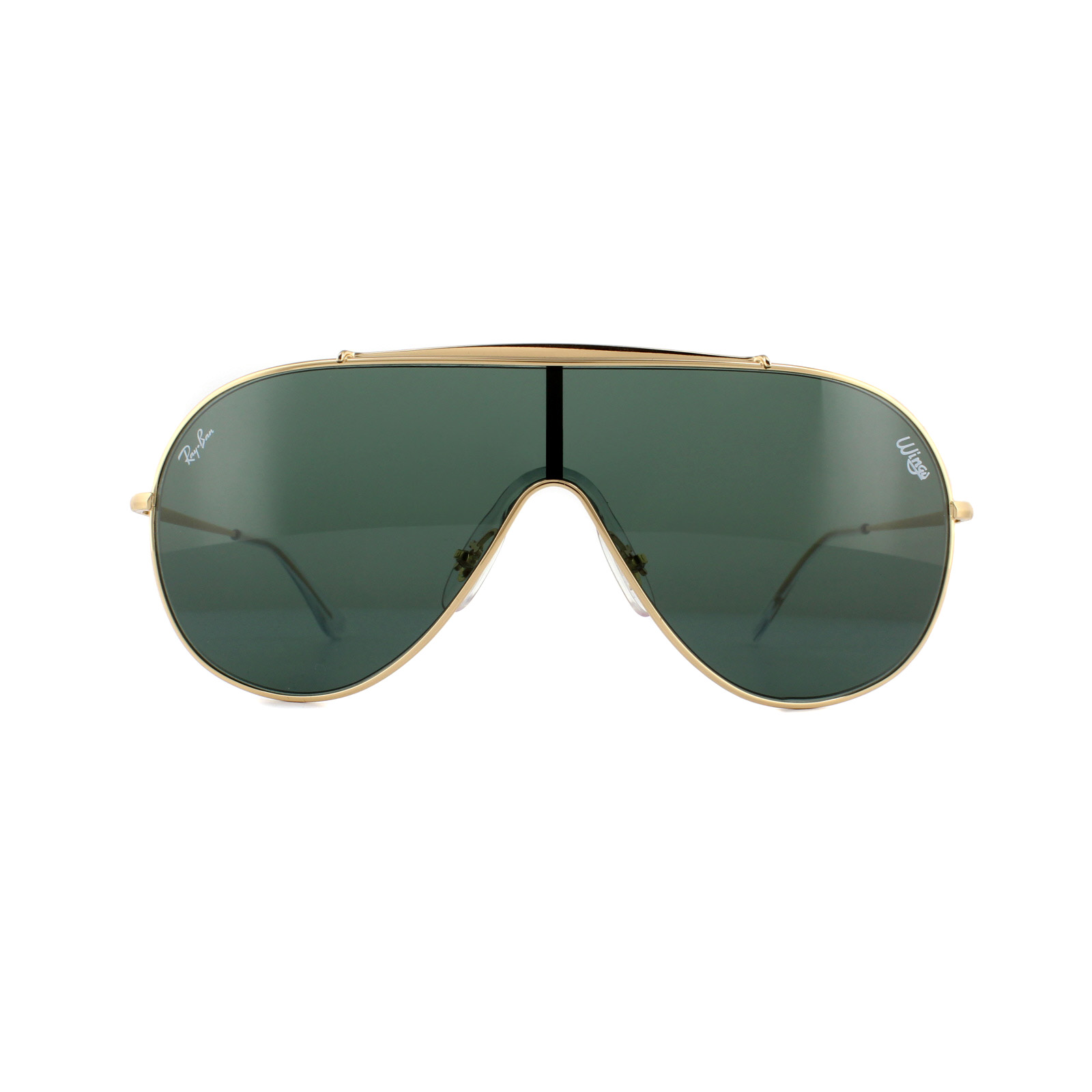 f86187e03a6 Sentinel ray ban sunglasses wings gold dark green jpg 1600x1600 Ray ban  wings