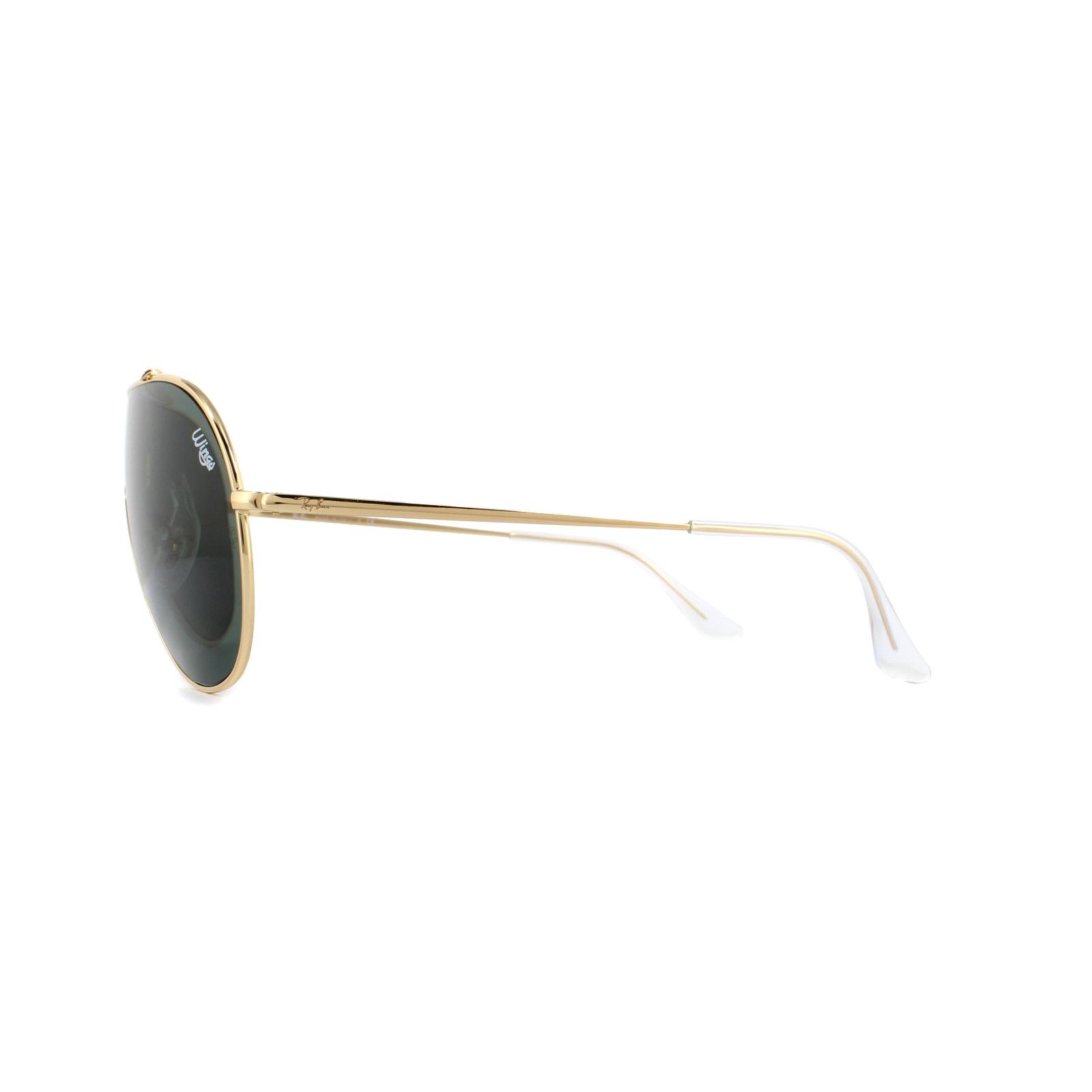 344ed638cc6 Ray-Ban Sunglasses Wings RB3597 905071 Gold Dark Green 8053672919523 ...