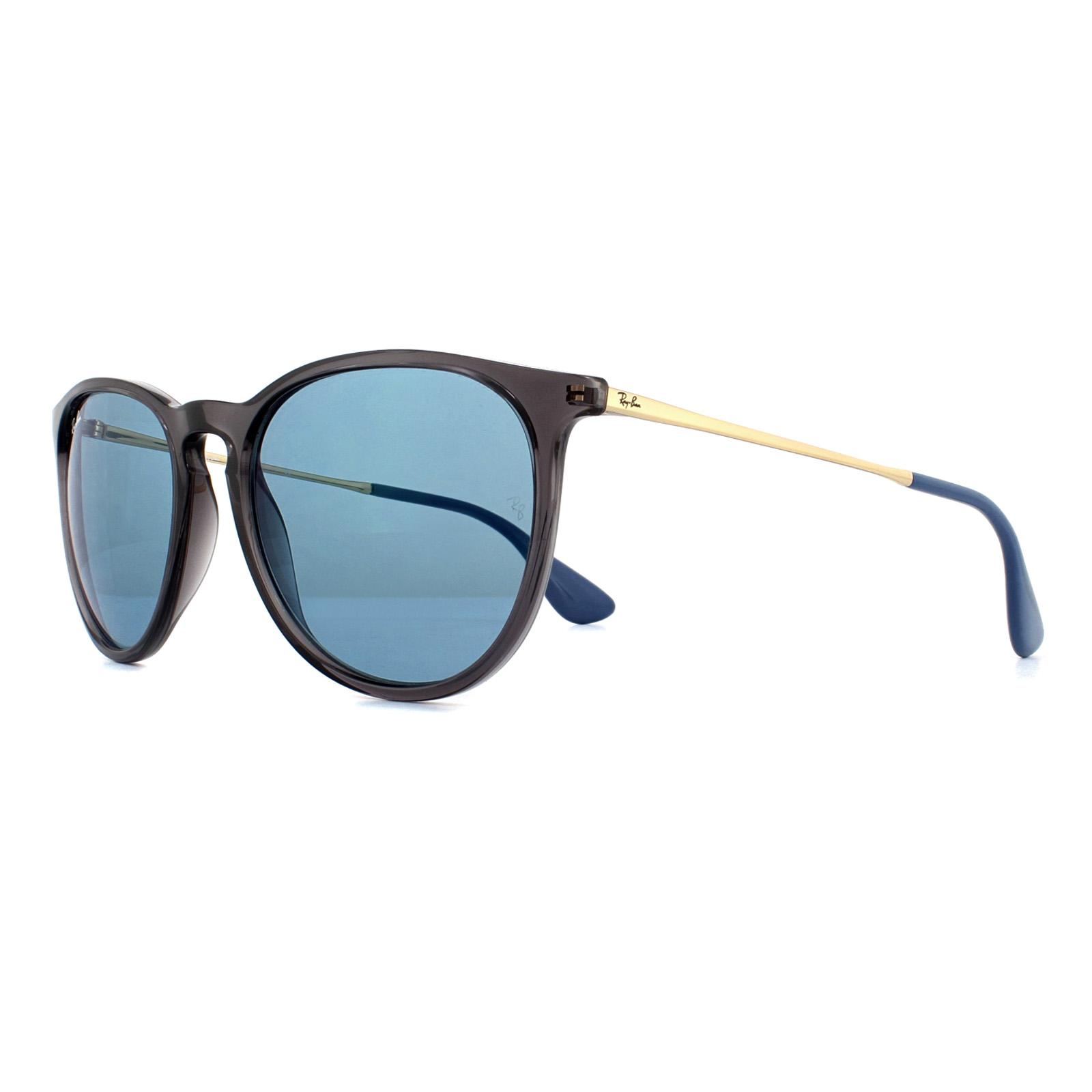 280eac96a3d Sentinel Ray-Ban Sunglasses Erika 4171 6340F7 Transparent Grey Light Blue