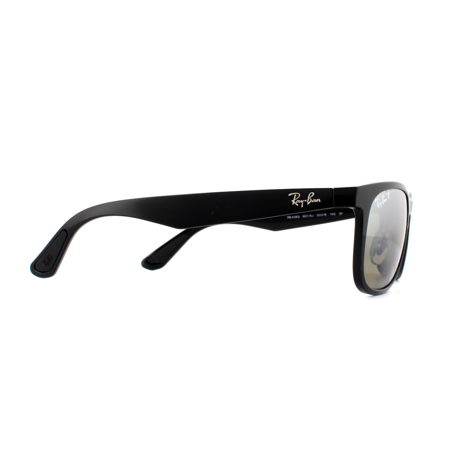 01a660b1b22 Sentinel Ray-Ban Sunglasses RB4263 601 5J Black Grey Polarized Mirror  Silver Chromance