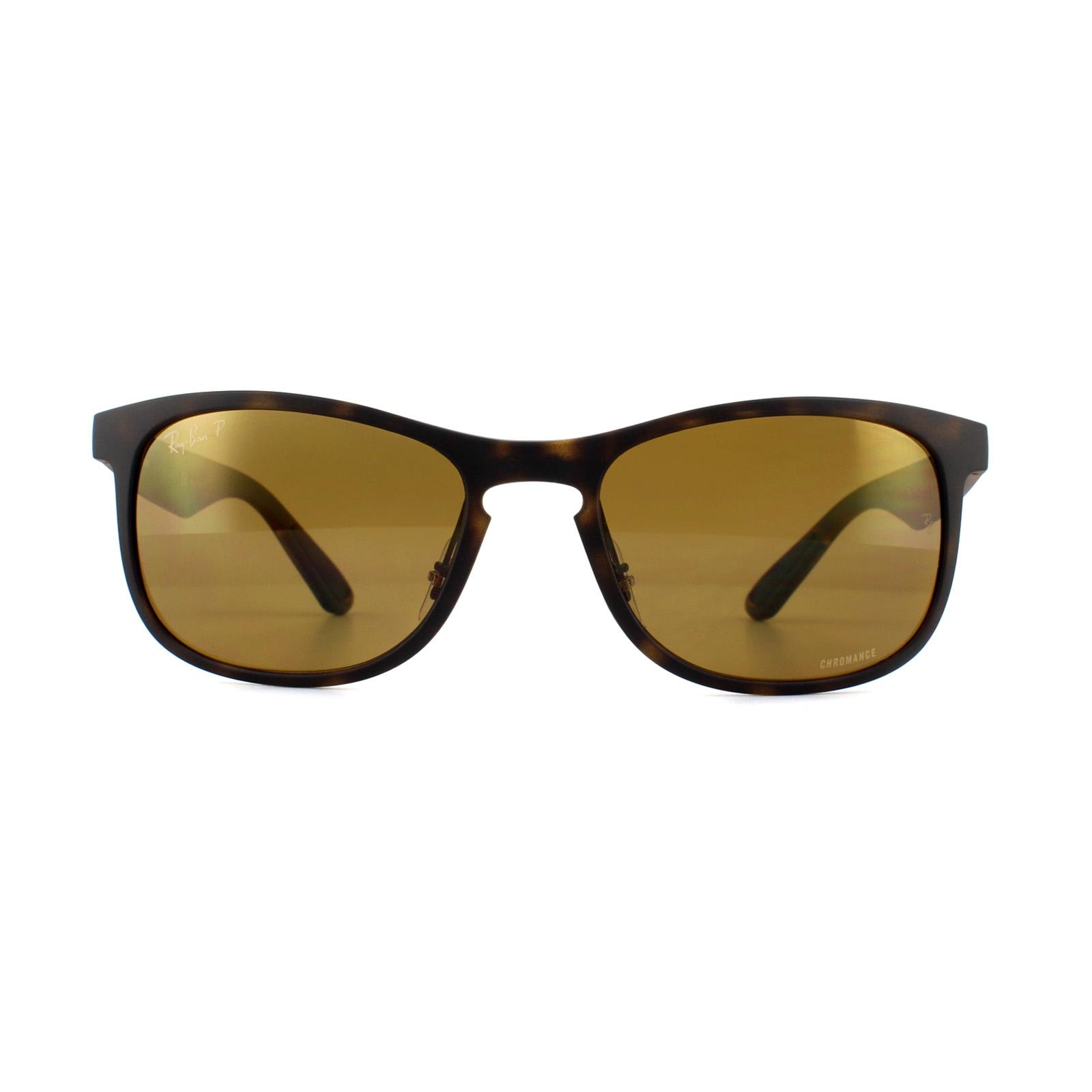 020d0543172 Sentinel Ray-Ban Sunglasses RB4263 894 A3 Matte Havana Bronze Polarized  Miror Chromance