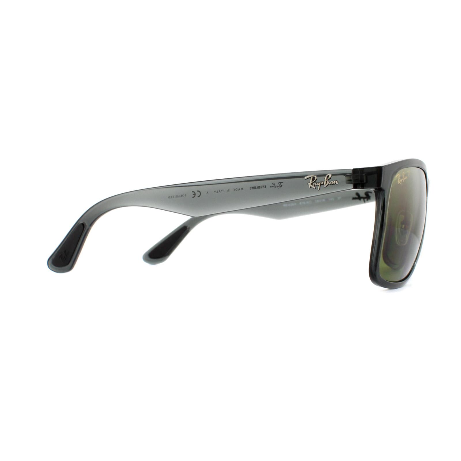 cf70bff83 Sentinel Ray-Ban Sunglasses RB4264 876/6O Shiny Grey Green Polarized Mirror  Chromance
