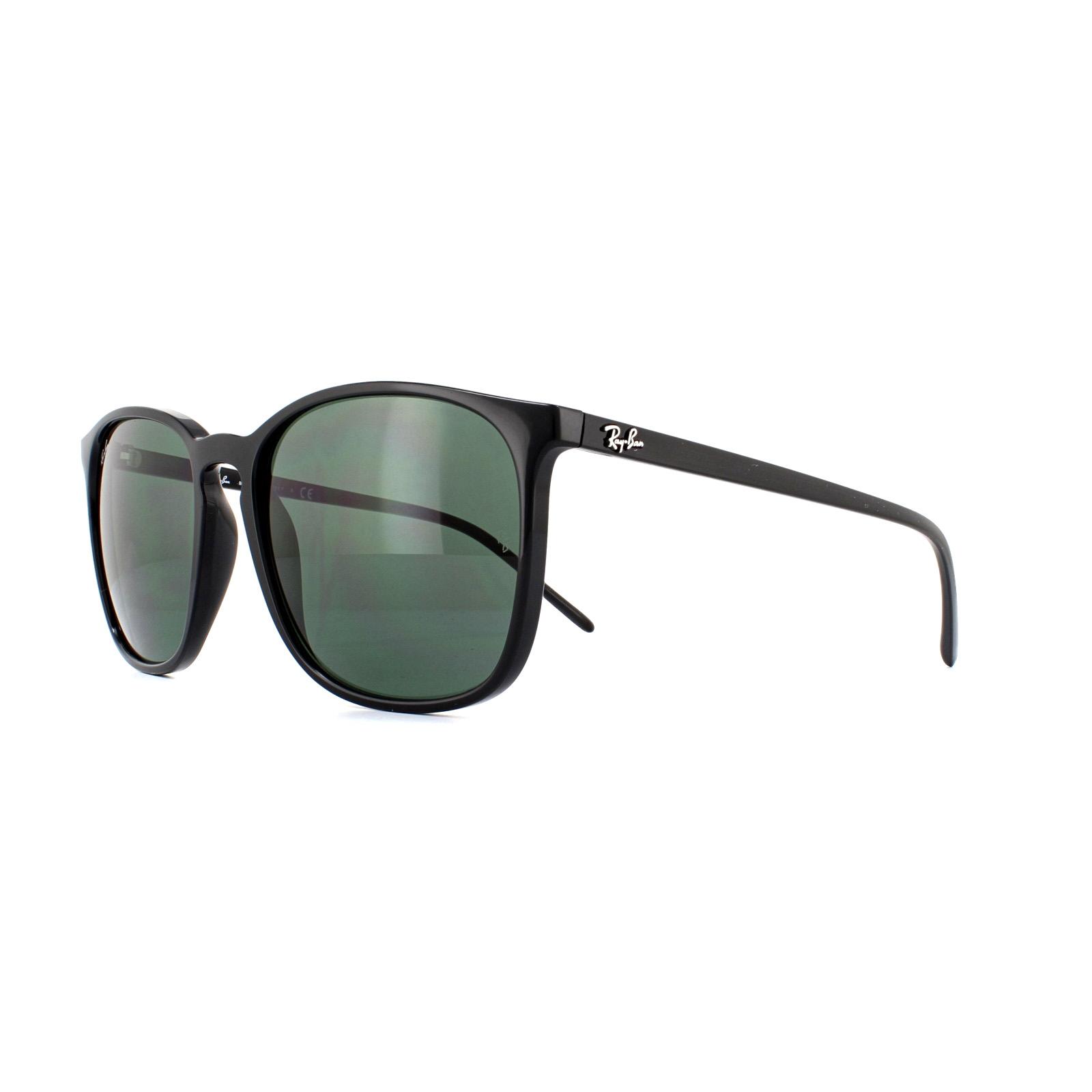 ab2fbbb726ce Ray-Ban Sunglasses RB4387 601 71 Black Green 8053672986587