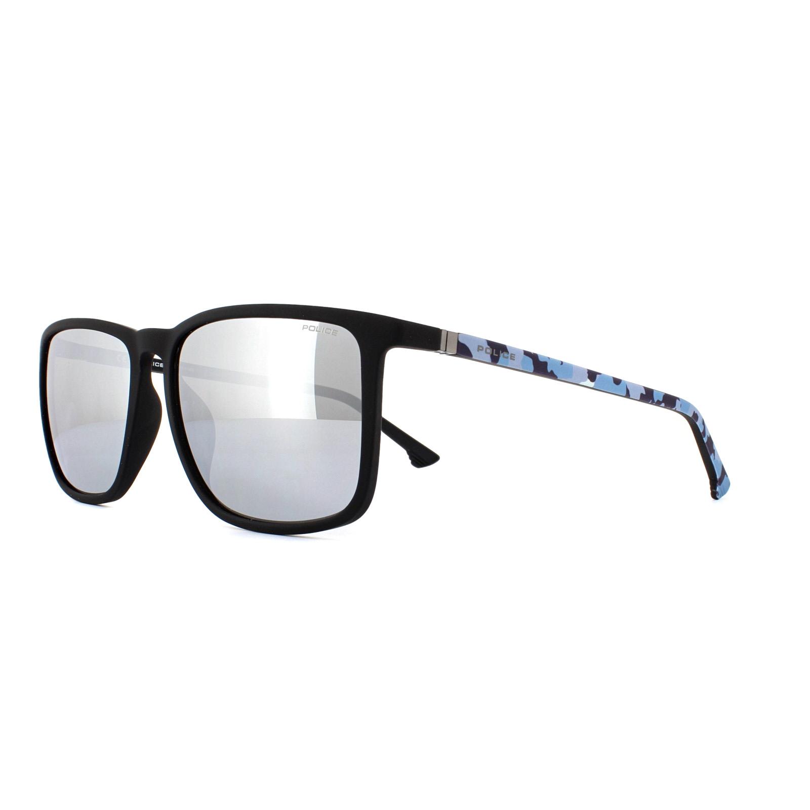 2228c31db16 Sentinel Police Sunglasses SPL342M Jungle 1 6AAX Rubberized Black Blue  Silver Mirror. Sentinel Thumbnail 2