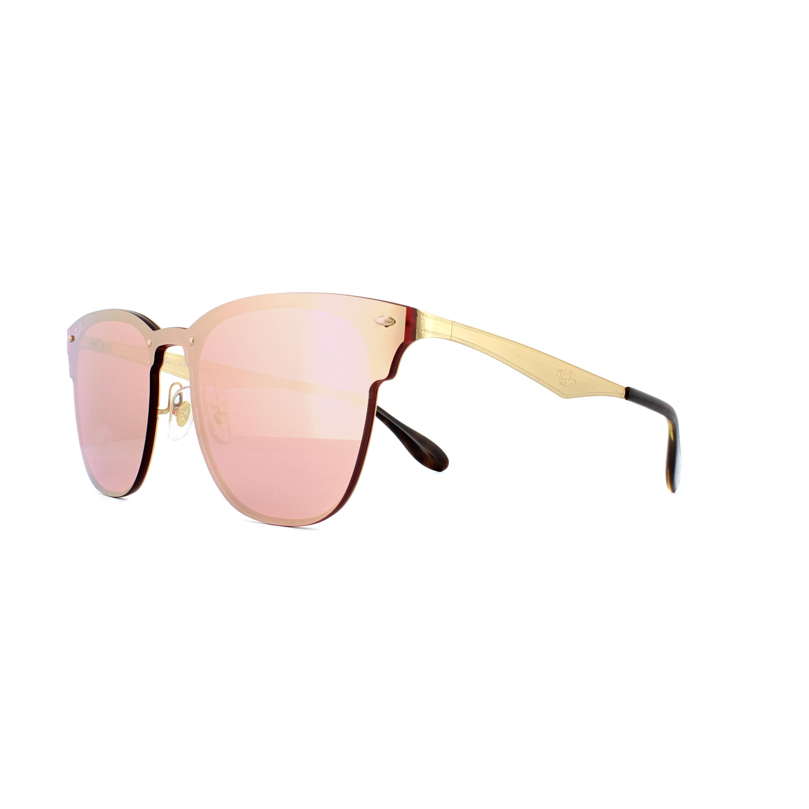 5ba7578855 Sentinel Ray-Ban Sunglasses Blaze Clubmaster 3576N 043 E4 Gold Pink Mirror