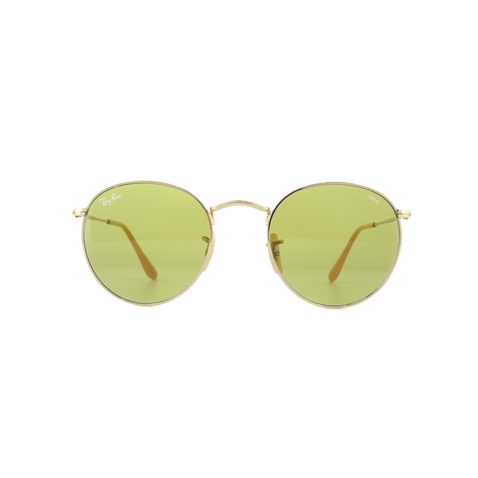 011d5398f Sentinel Ray-Ban Sunglasses Round Metal 3447 90644C Gold Green Photochromic