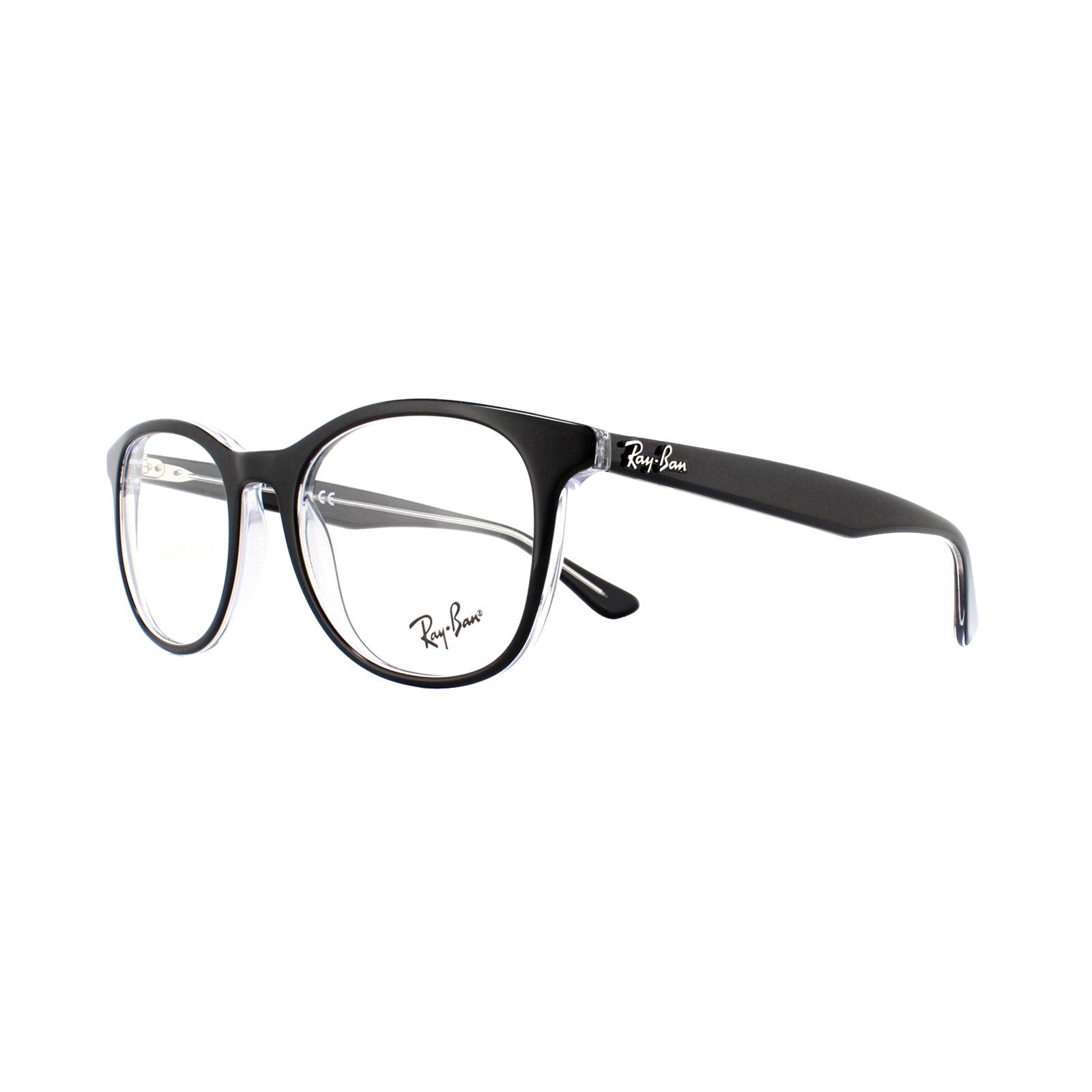 0f8020c290 Sentinel Ray-Ban Glasses Frames 5356 2034 Top Black On Transparrent 52mm