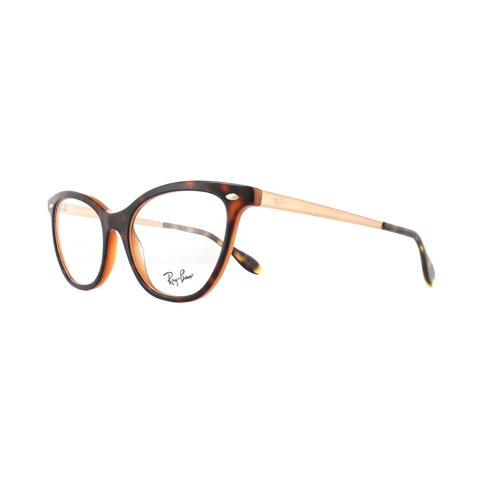 177ff14418 Sentinel Ray-Ban Glasses Frames 5360 5713 Top Havana On Light Blue 52mm