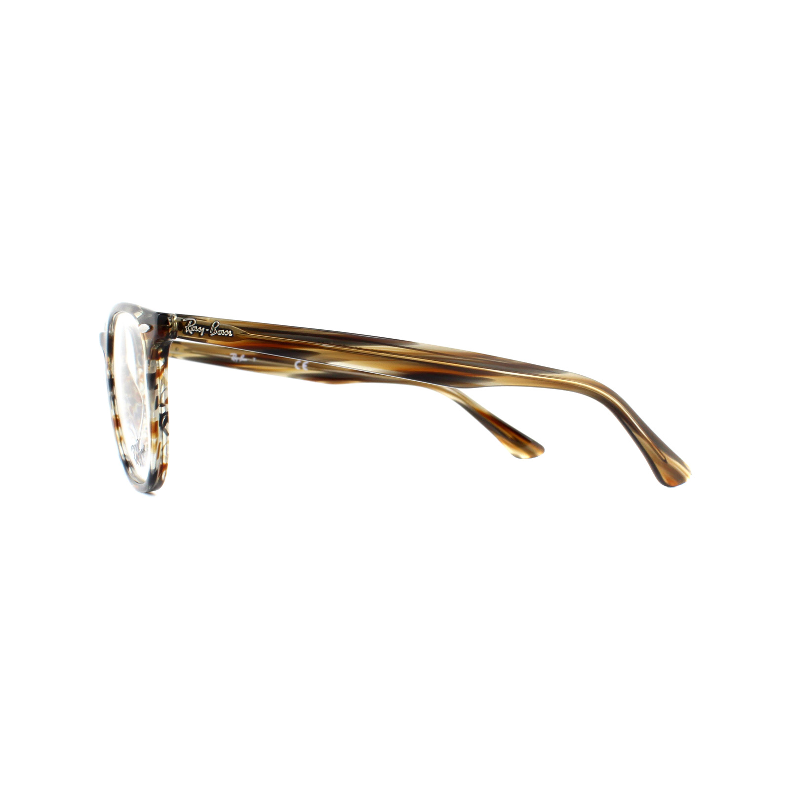 60a871a9527 Sentinel Ray-Ban Glasses Frames 7159 5798 Brown Grey Striped 50mm