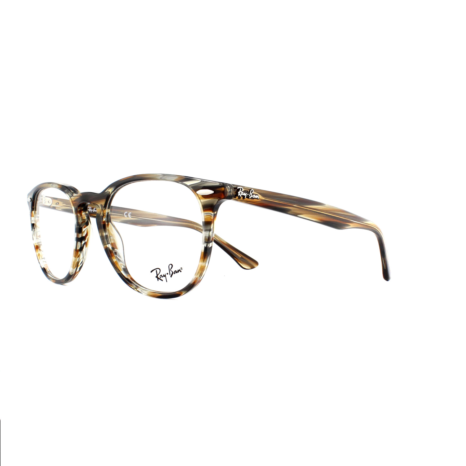 8548c7f11b Sentinel Ray-Ban Glasses Frames 7159 5798 Brown Grey Striped 50mm