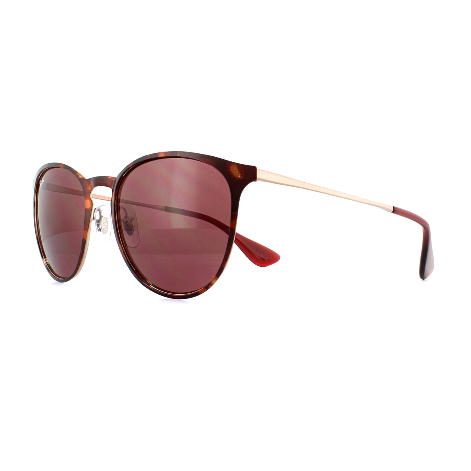 8ad6a3186c6 Sentinel Ray-Ban Sunglasses Erika Metal 3539 913375 Havana Dark Violet