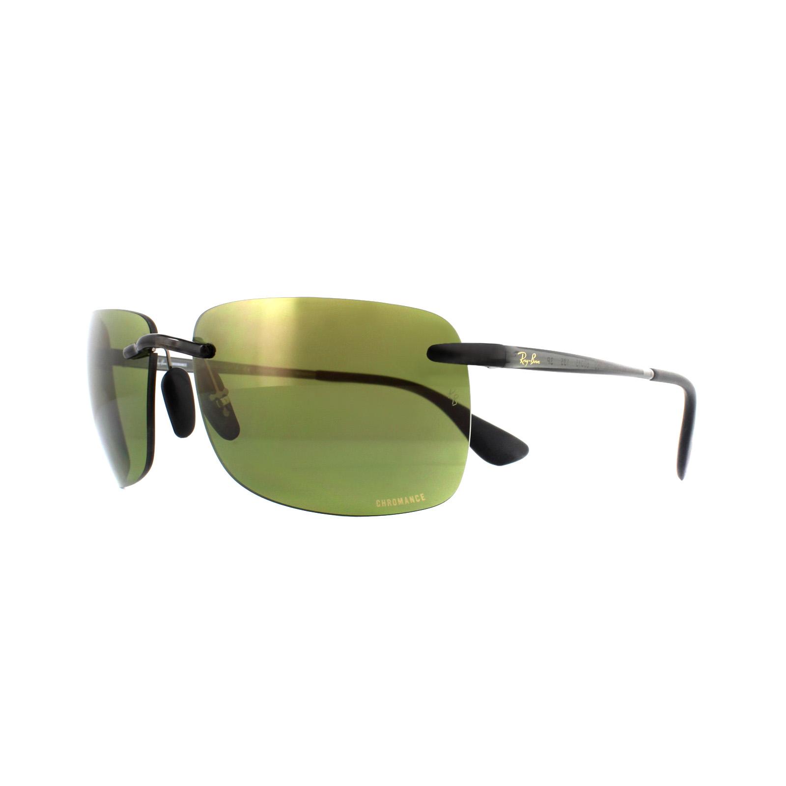 f348b66cb9 Sentinel Ray-Ban Sunglasses RB4255 621 6O Shiny Grey Green Mirror Polarized  Chromance