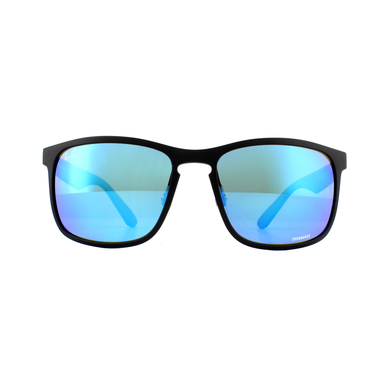 bede7cc2b8 Sentinel Ray-Ban Sunglasses RB4264 601SA1 Matte Black Blue Flash Polarized  Chromance