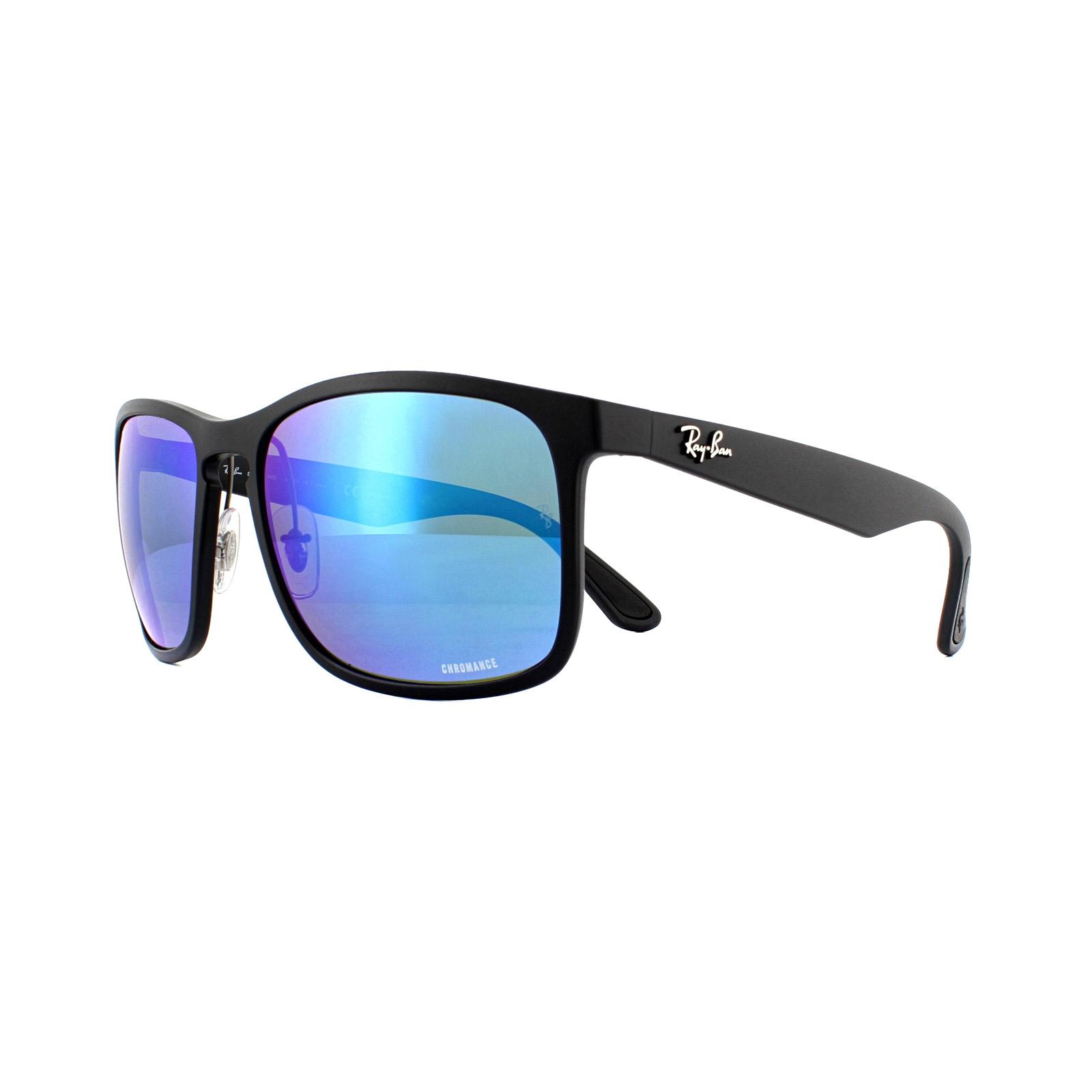 270bea06c9b44 Sentinel Ray-Ban Sunglasses RB4264 601SA1 Matte Black Blue Flash Polarized  Chromance