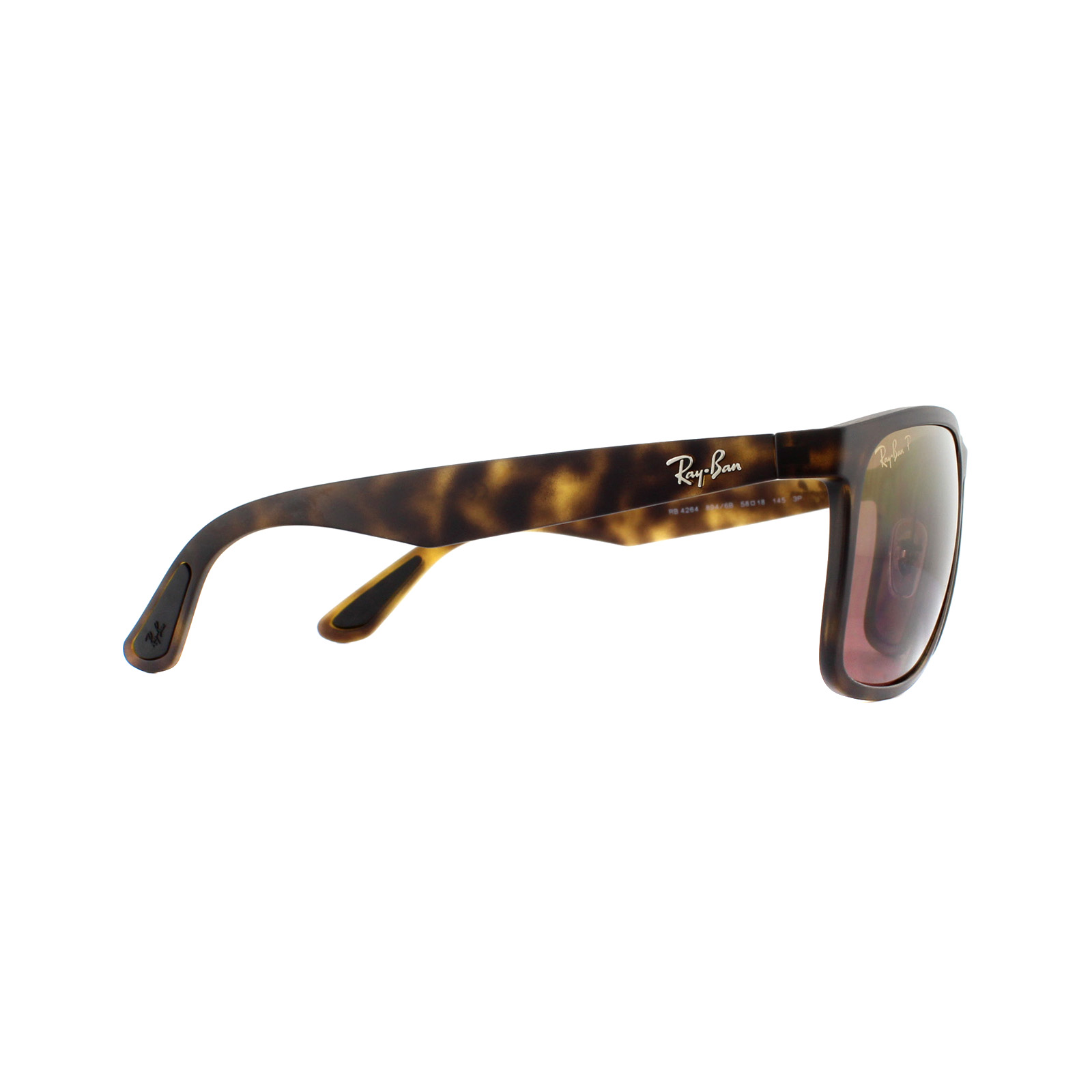 4d7db371123 Sentinel Ray-Ban Sunglasses RB4264 894 6B Matte Havana Brown Polarized  Mirror Chromance