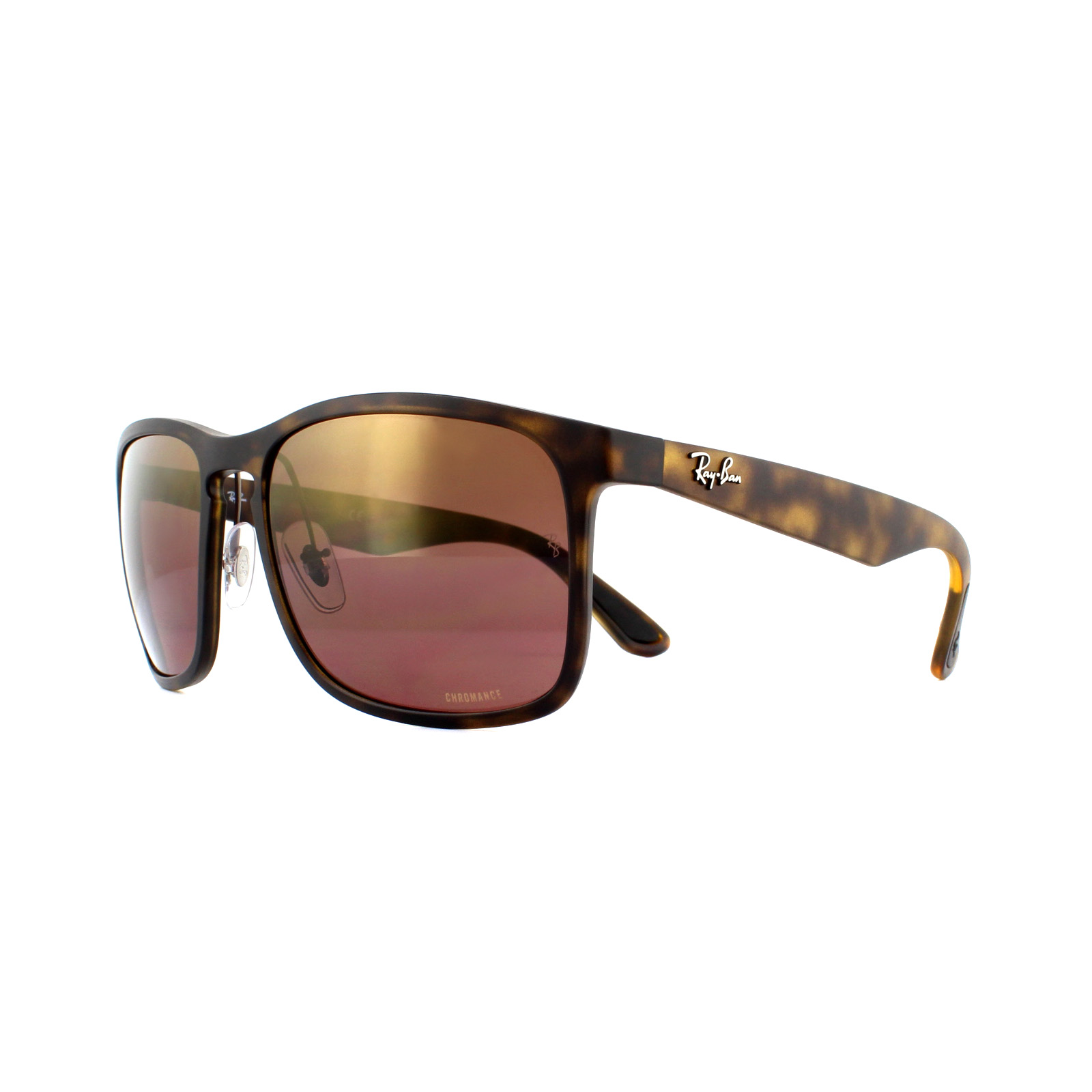 6c901729a35ef Sentinel Ray-Ban Sunglasses RB4264 894 6B Matte Havana Brown Polarized  Mirror Chromance