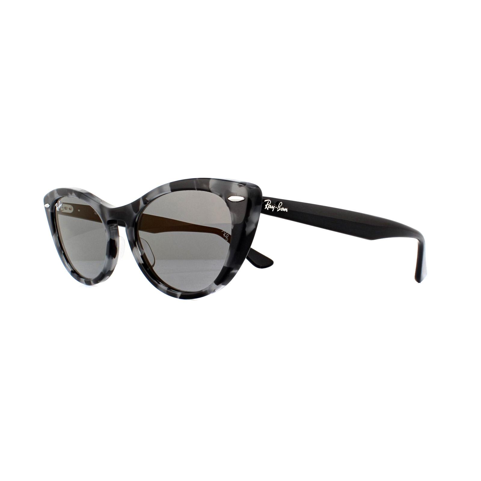 94fa2bd6514 Sentinel Ray-Ban Sunglasses Nina RB4314N 1250Y5 Havana Grey Blue Mirror Gold