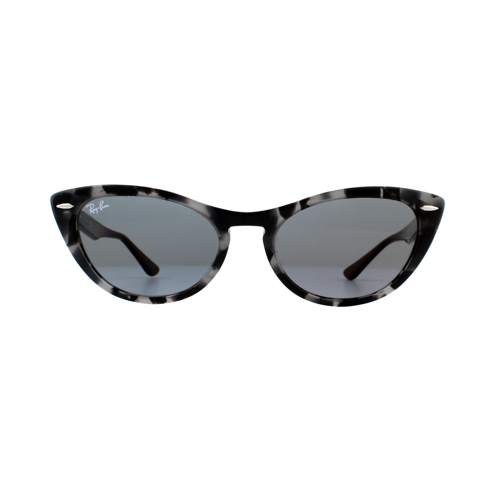11585c1605 Sentinel Ray-Ban Sunglasses Nina RB4314N 1250Y5 Havana Grey Blue Mirror Gold