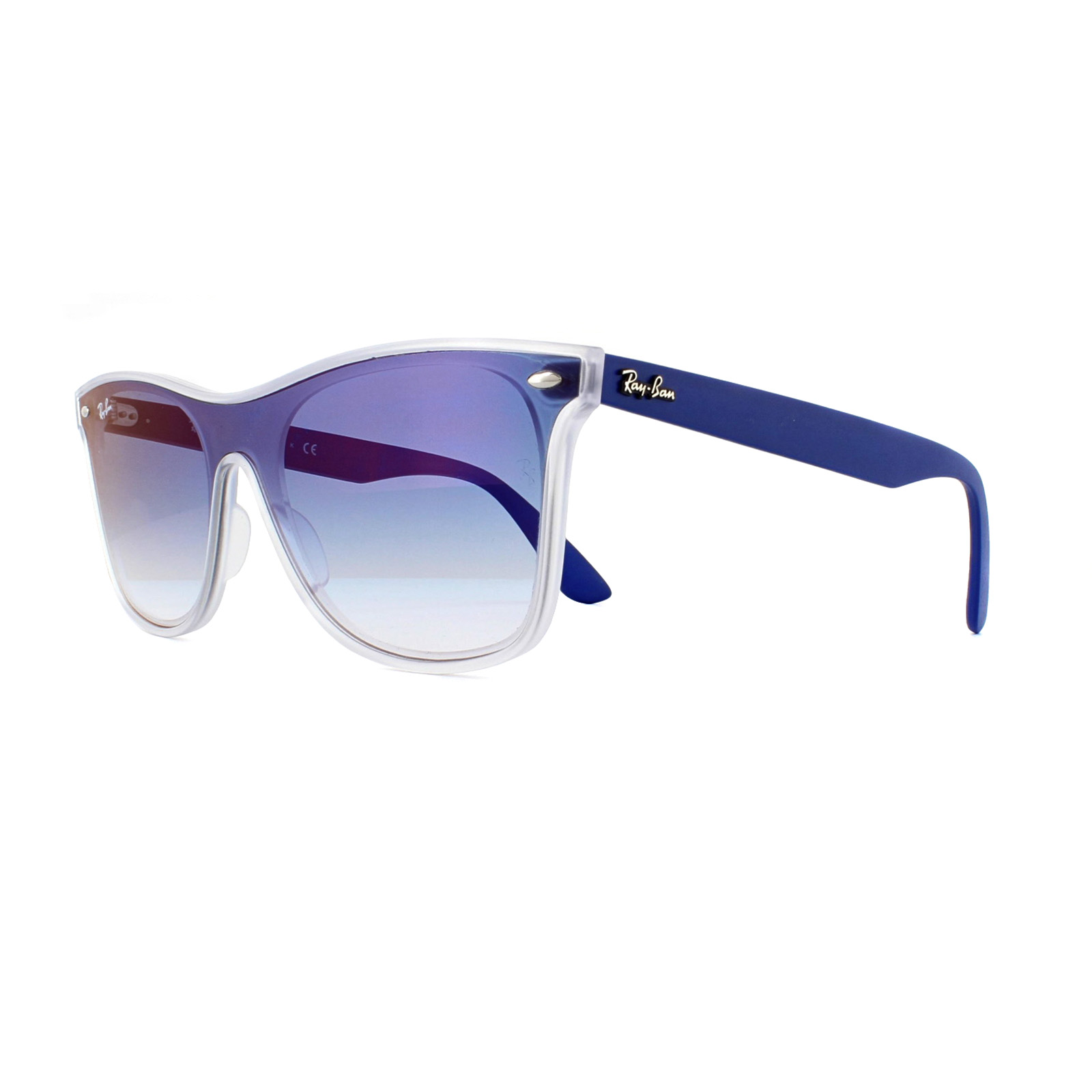 852a347d969a7 Details about Ray-Ban Sunglasses Blaze Wayfarer 4440N 6356X0 Transparent  Blue