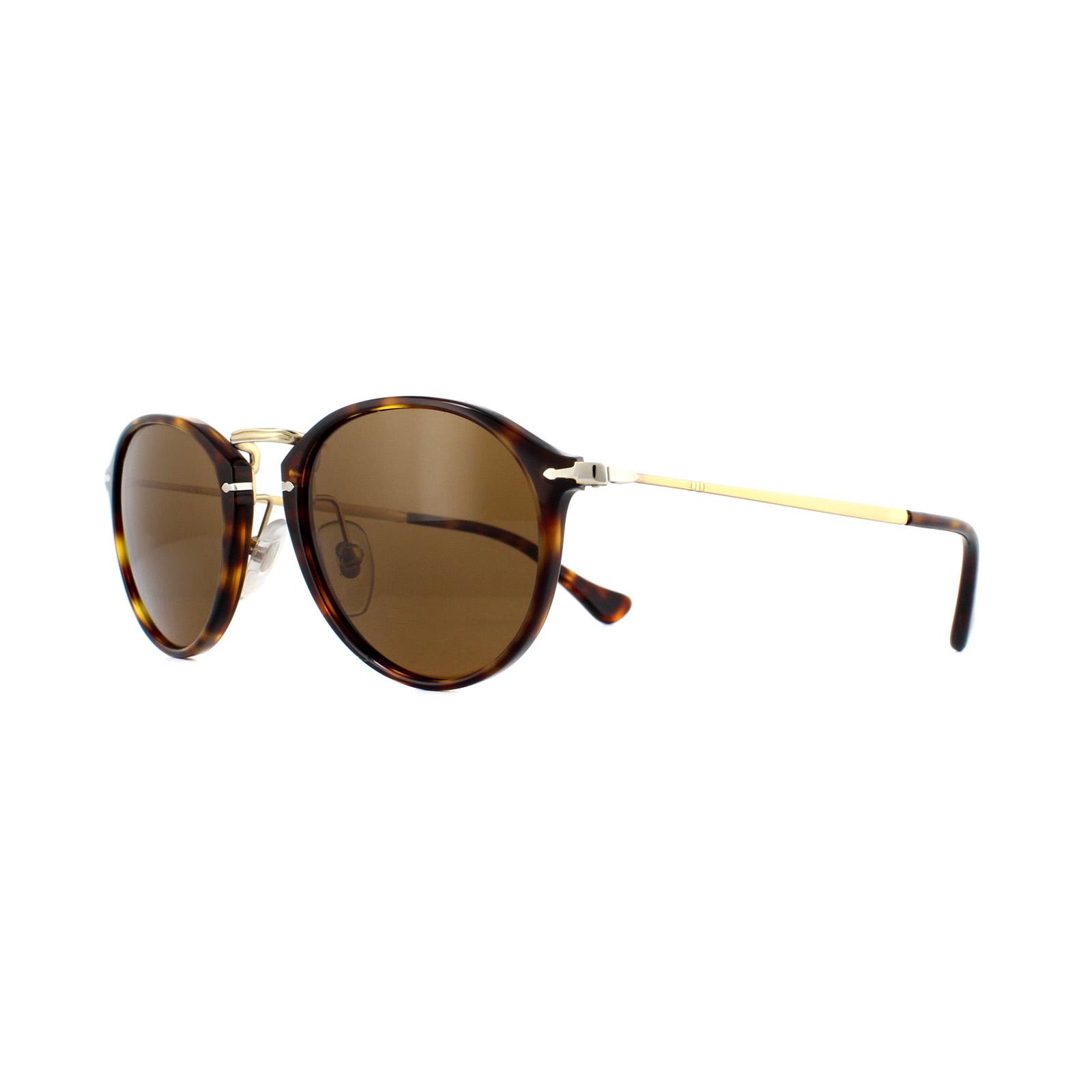 939ca17730 Sentinel Persol Sunglasses 3046 24 57 Havana Crystal Brown Polarized
