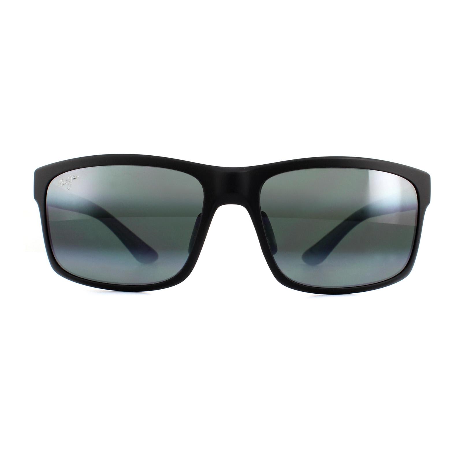 223da04557 Sentinel Maui Jim Sunglasses Pokowai Arch 439-2M Matte Black Neutral Grey  Polarized