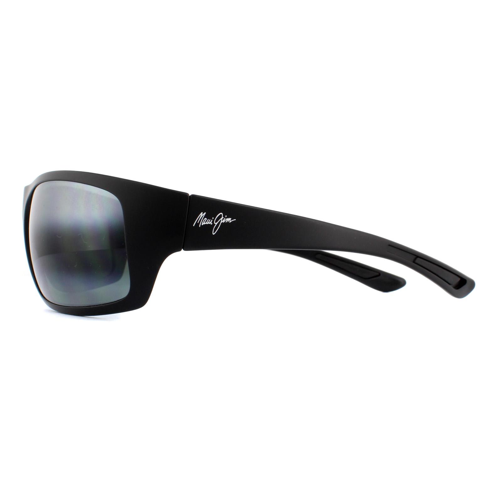 7d9e9c0e23d Sentinel Maui Jim Sunglasses Big Wave 440-2M Matte Black Neutral Grey  Polarized