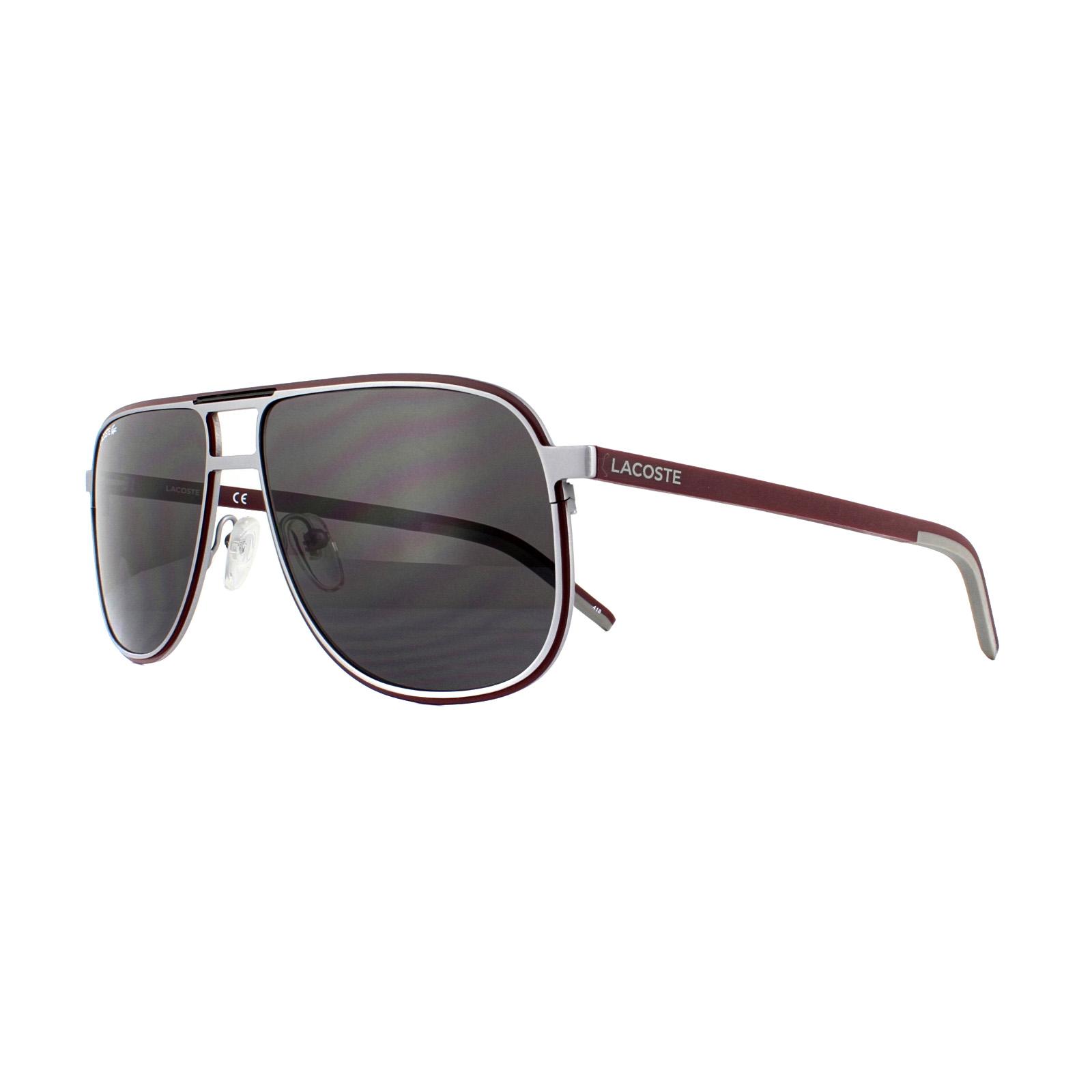 7519087978 Lacoste Sunglasses L192S 038 Matte Light Grey Red Grey 886895336673 ...