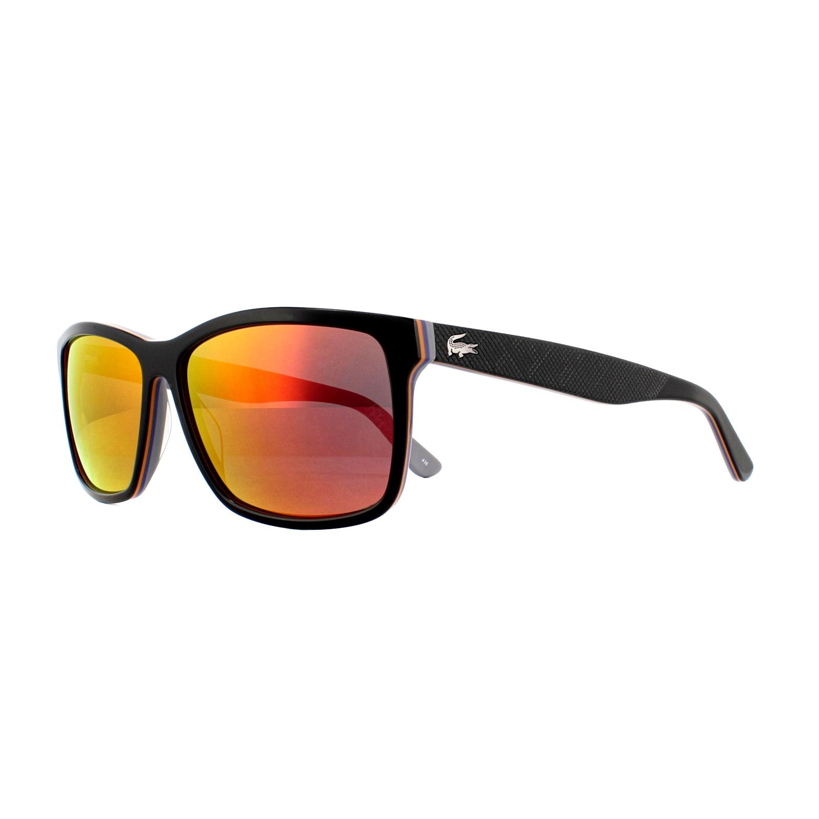 d05d64143e0a Lacoste Sunglasses L705S 003 Black Grey Red Mirror 886895304252