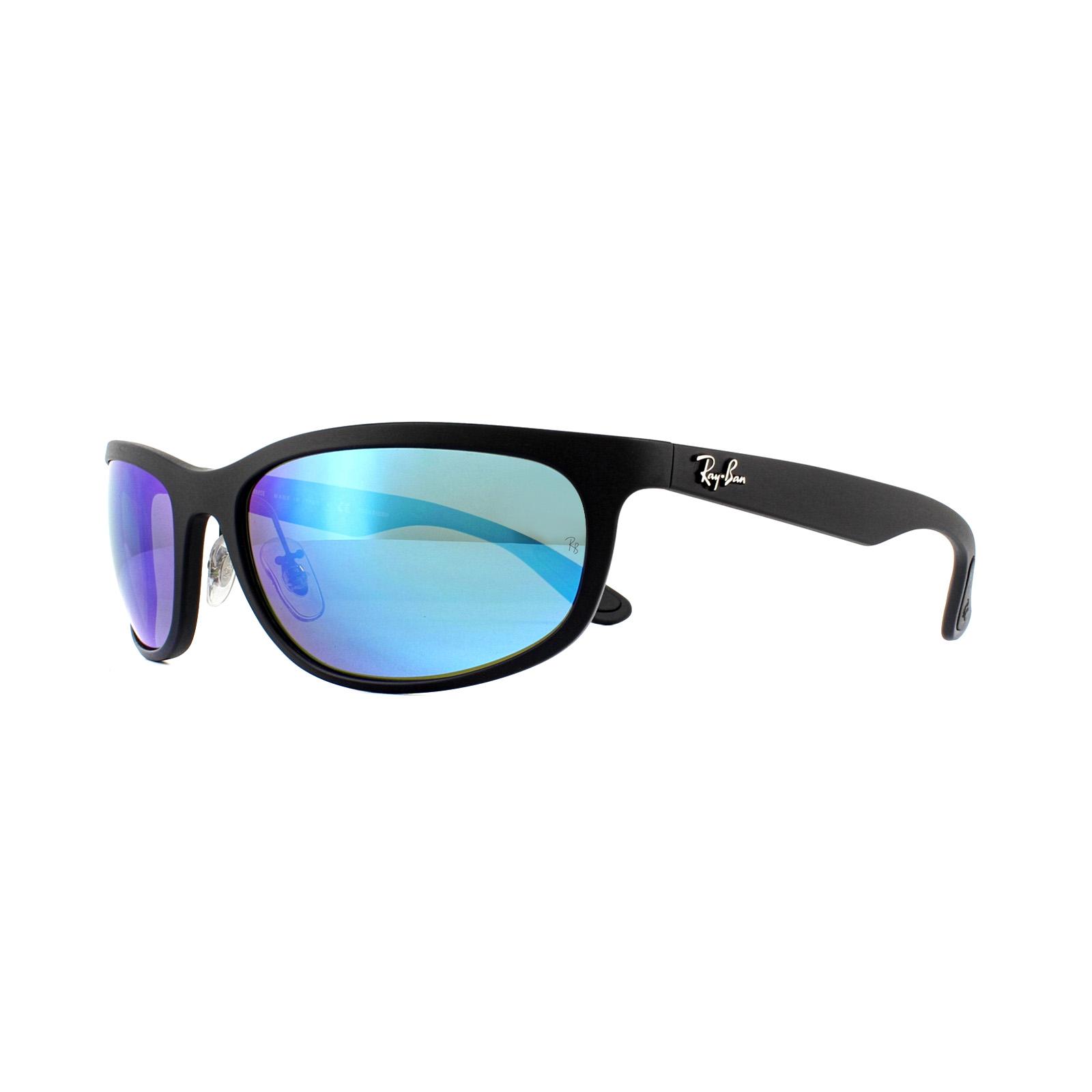 5f87a8fbc7da7 Sentinel Ray-Ban Sunglasses RB4265 601SA1 Black Blue Mirror Chromance  Polarized